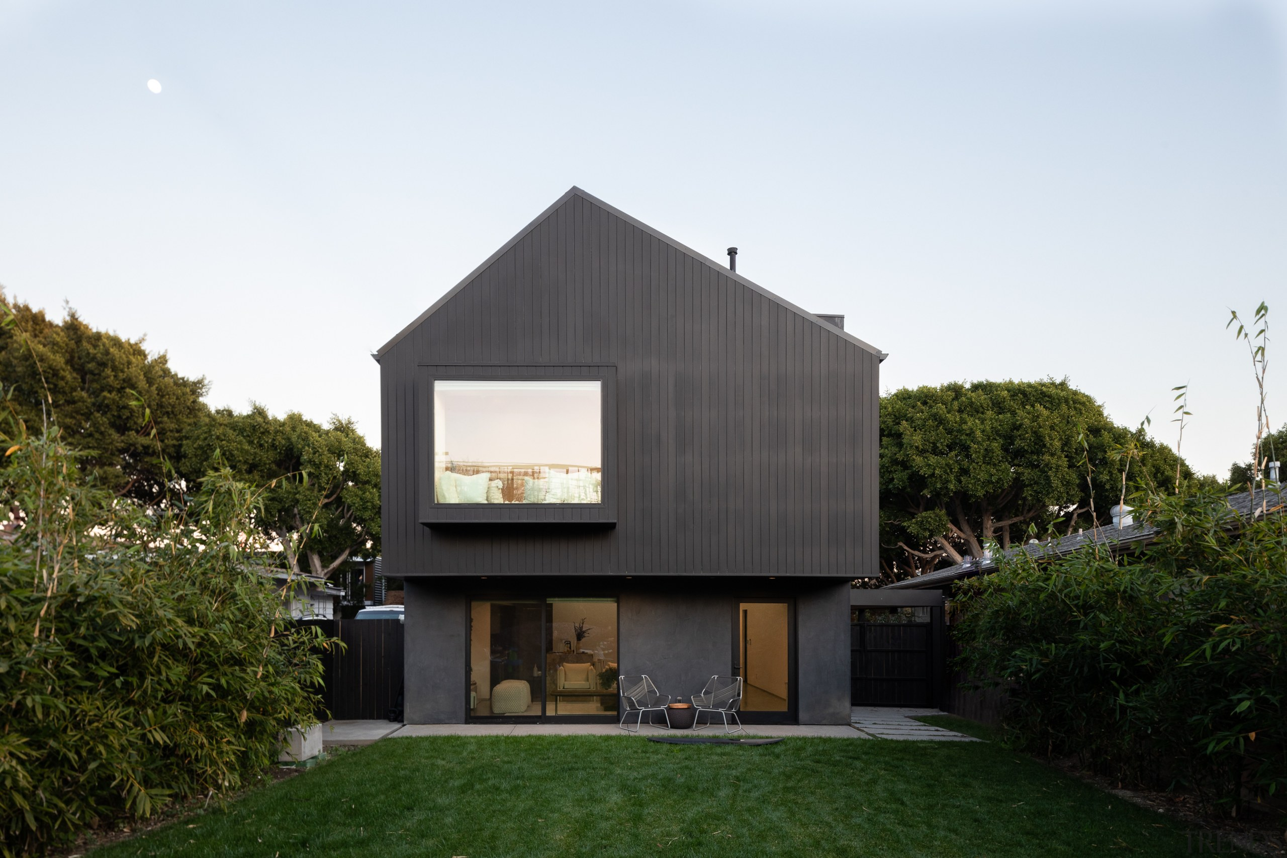 The design intent of this home was to