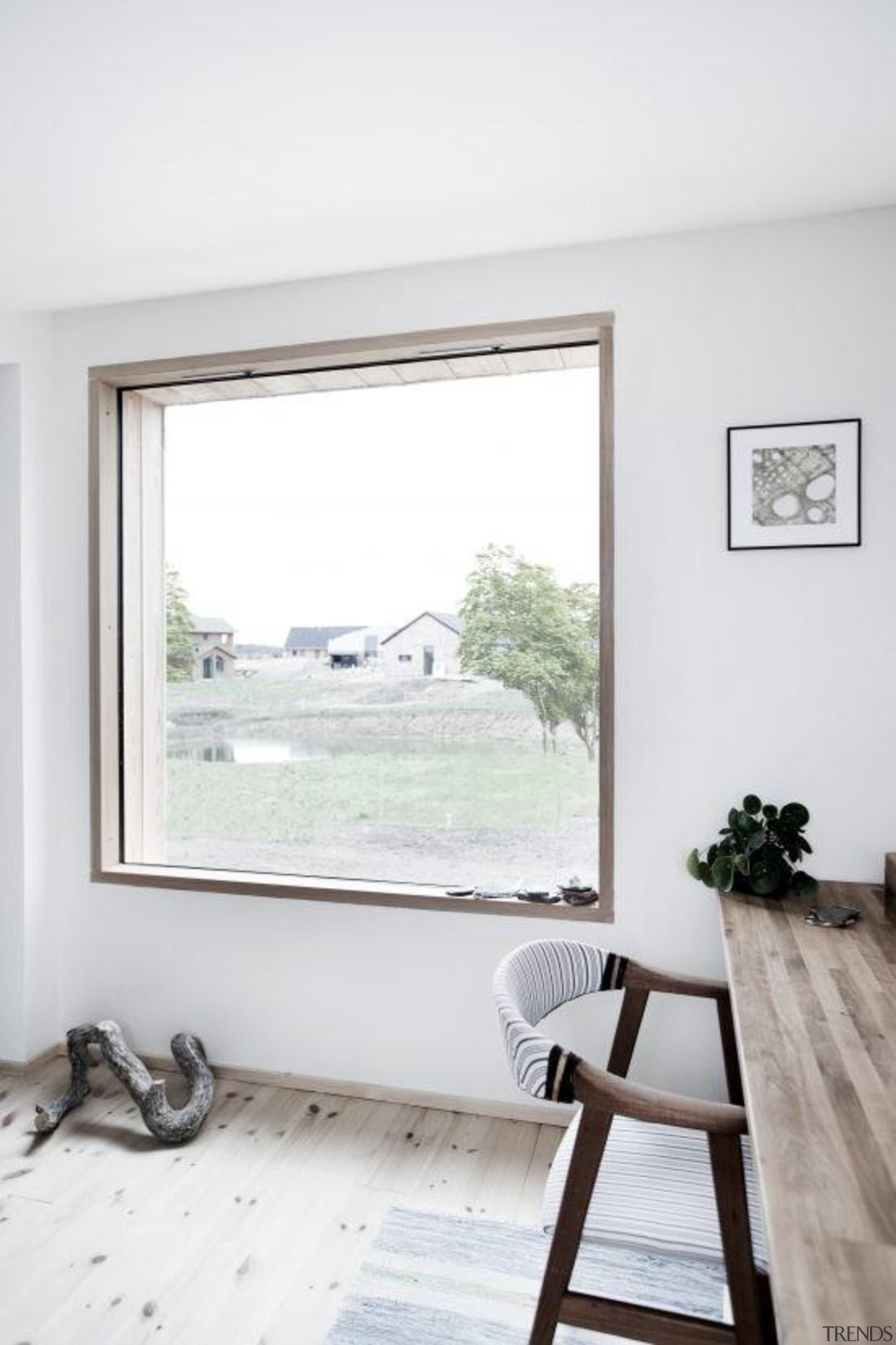 Architect: Sigured Larsen floor, home, house, interior design, window, white
