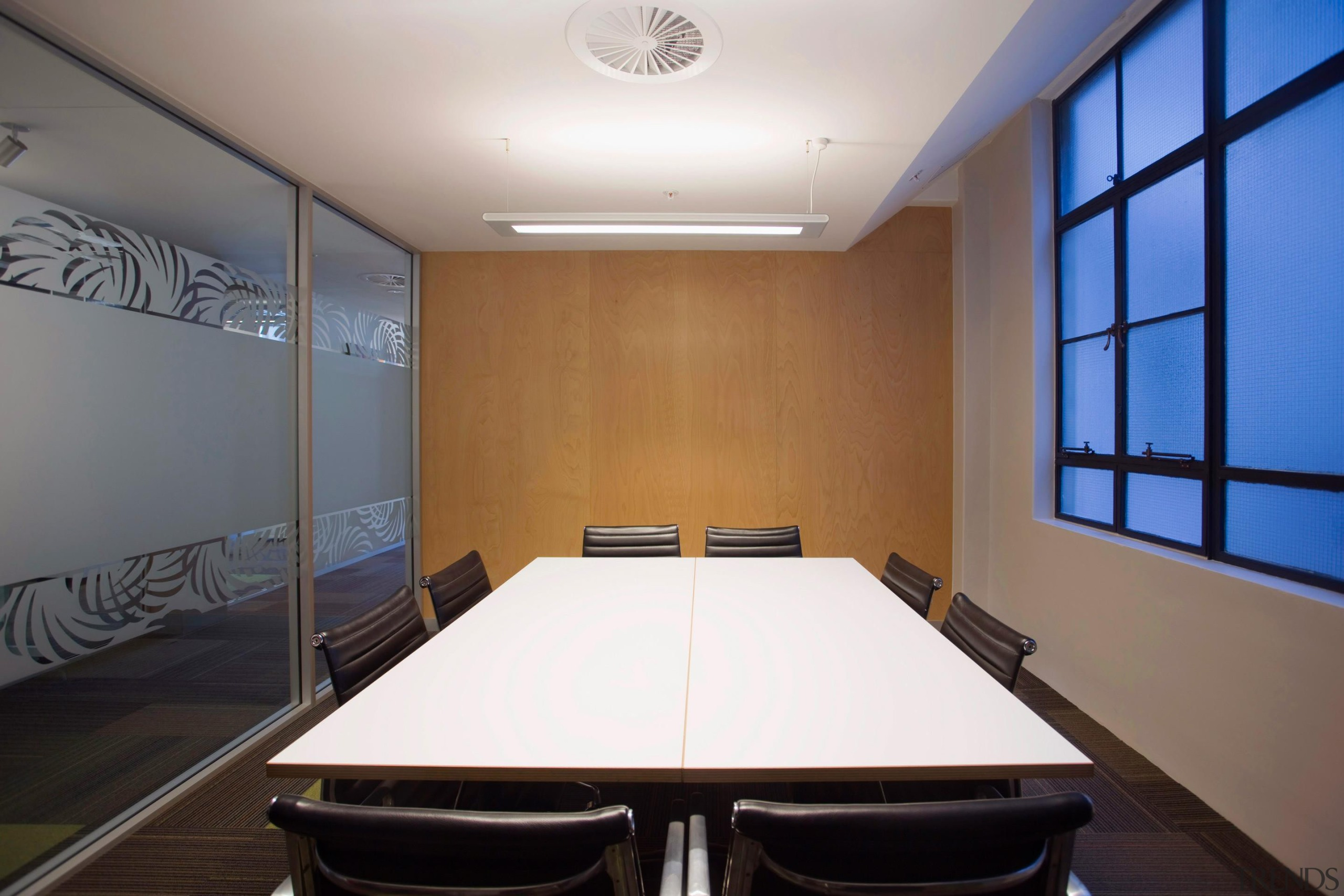 Lower ceilings in the meeting rooms fold up ceiling, conference hall, daylighting, interior design, office, property, real estate, room