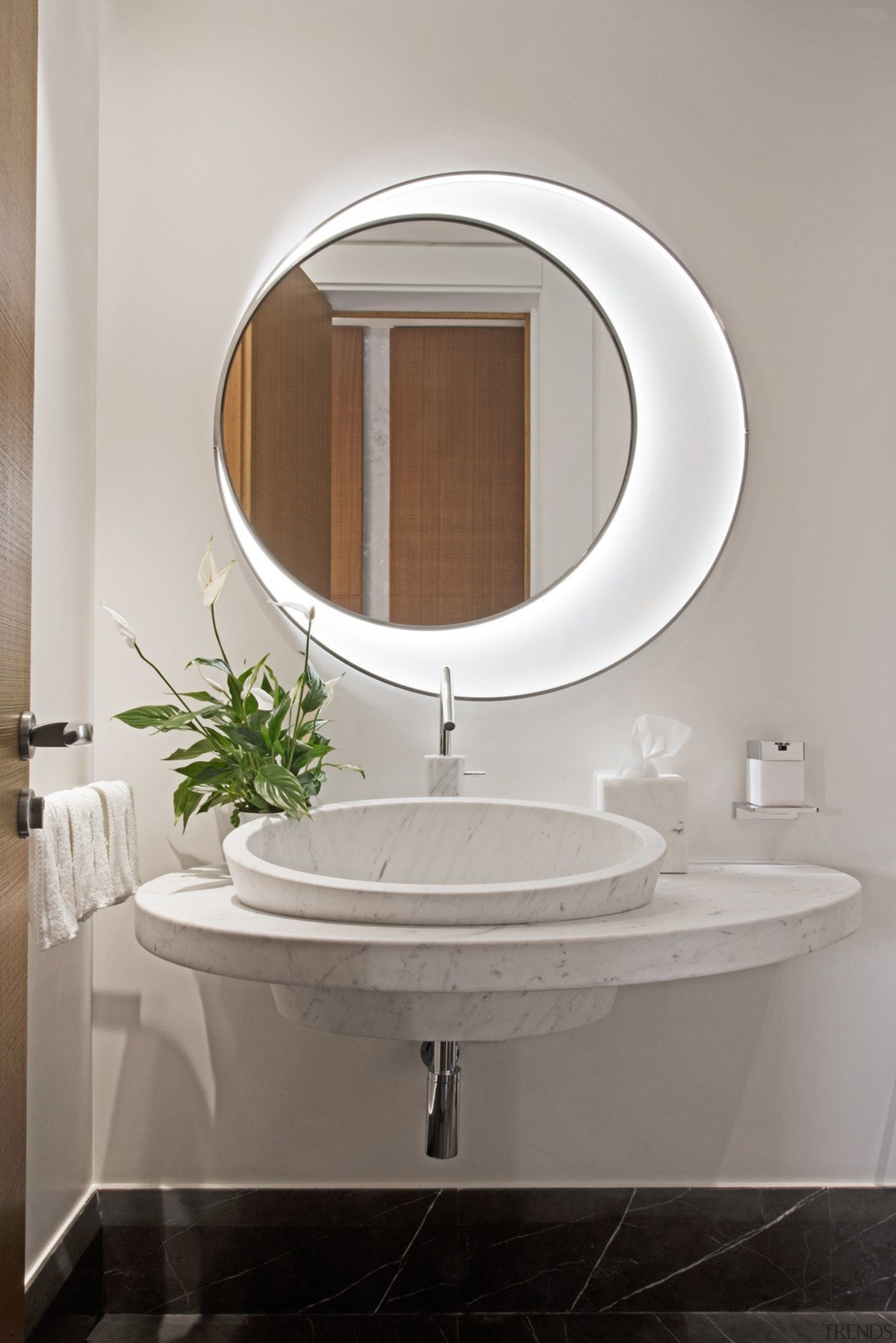 Functional for family - architecture   bathroom   architecture, bathroom, bathroom accessory, bathroom cabinet, bathroom sink, ceramic, interior design, marble, material property, mirror, oval, plumbing fixture, property, room, sink, tap, tile, gray