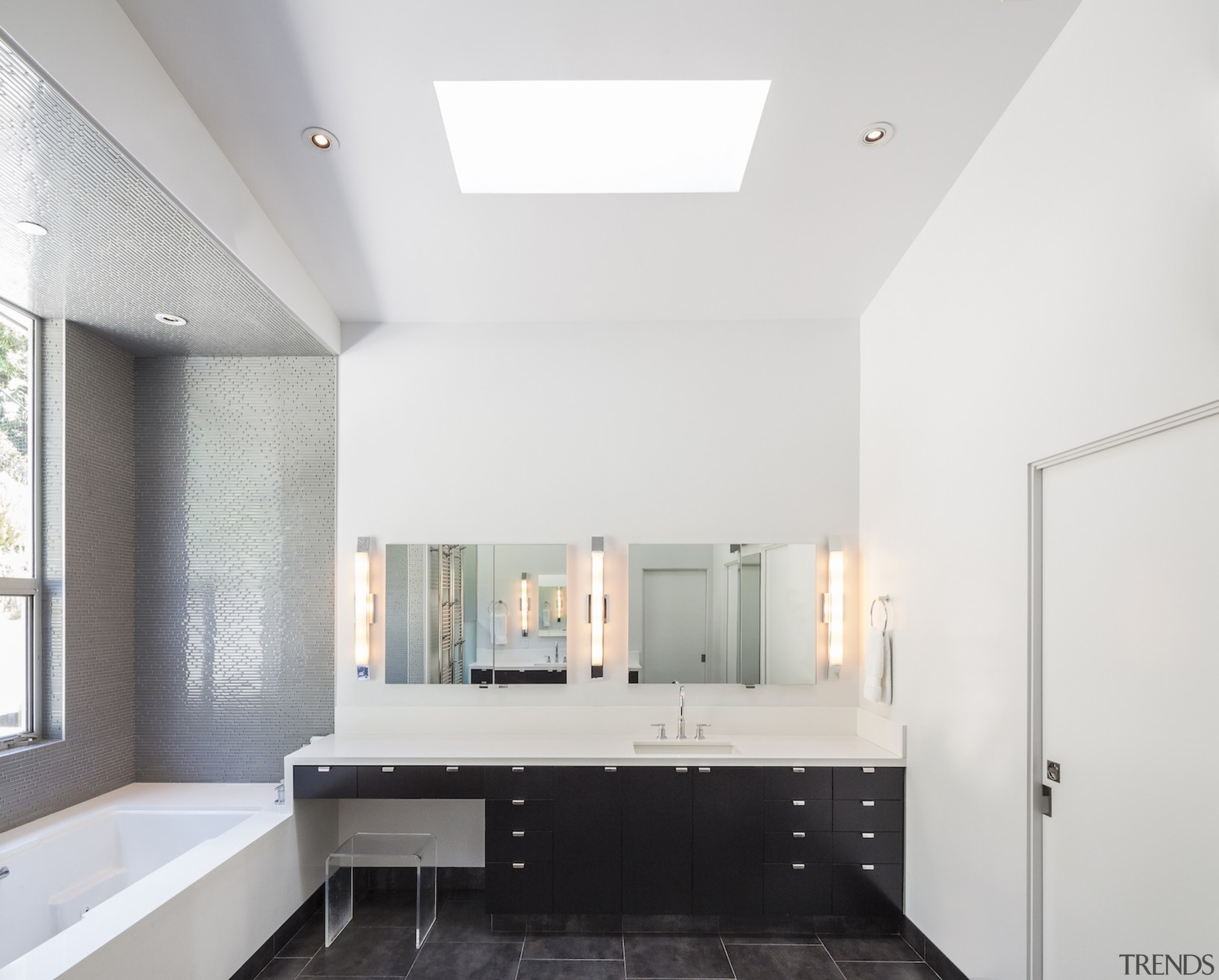 Anx View 44 - architecture | bathroom | architecture, bathroom, ceiling, daylighting, floor, home, house, interior design, real estate, room, white