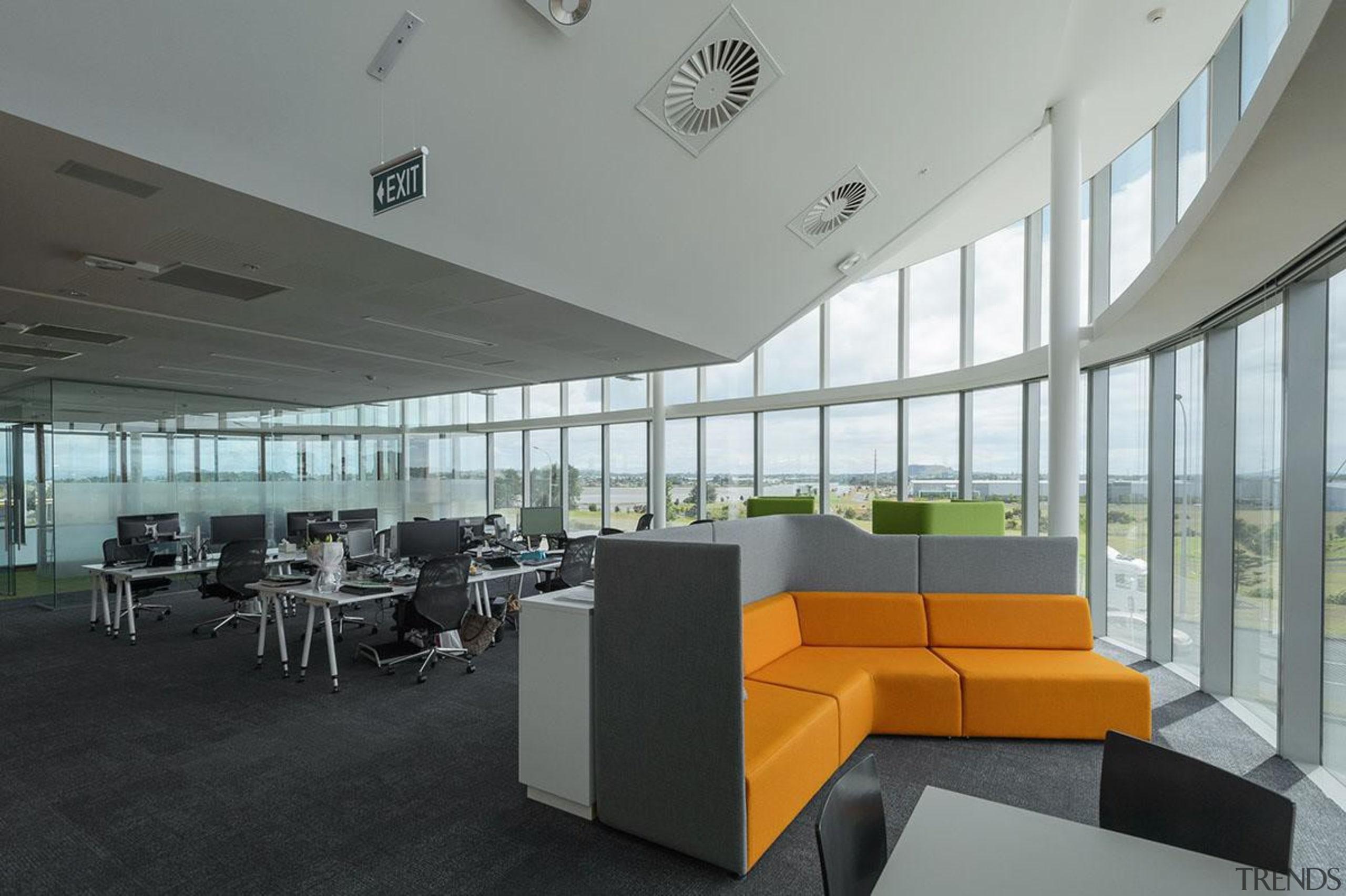 MERIT WINNERThe Crossing Highbrooks Business Park (4 of architecture, ceiling, daylighting, interior design, office, gray, black