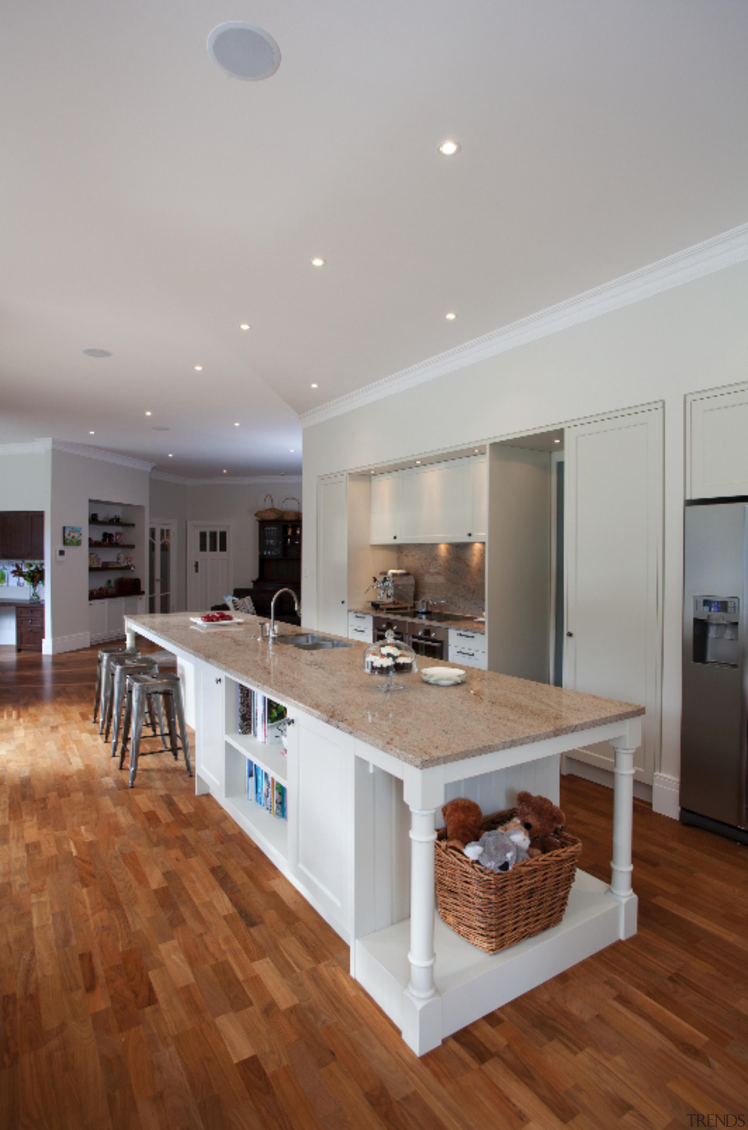 Epsom - ceiling   countertop   floor   ceiling, countertop, floor, flooring, hardwood, interior design, kitchen, laminate flooring, real estate, room, wood flooring, gray, brown