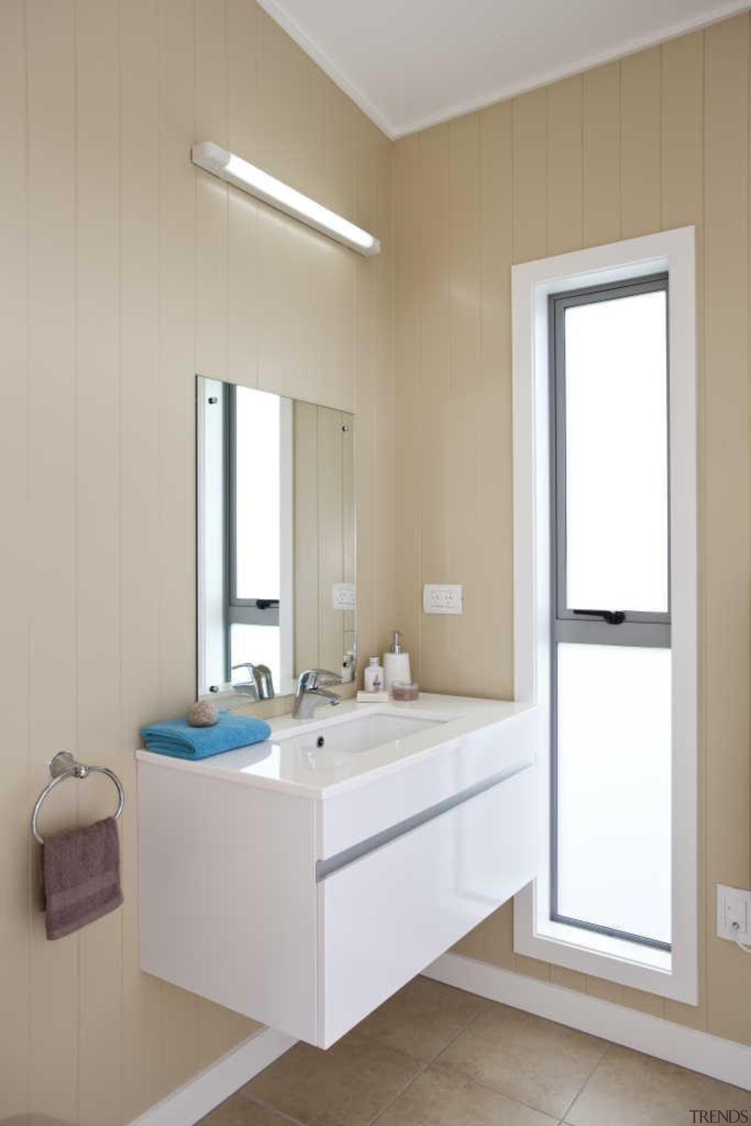Vanity window contemporary - Bathroom - bathroom | bathroom, bathroom accessory, bathroom cabinet, bathroom sink, floor, interior design, plumbing fixture, room, sink, gray