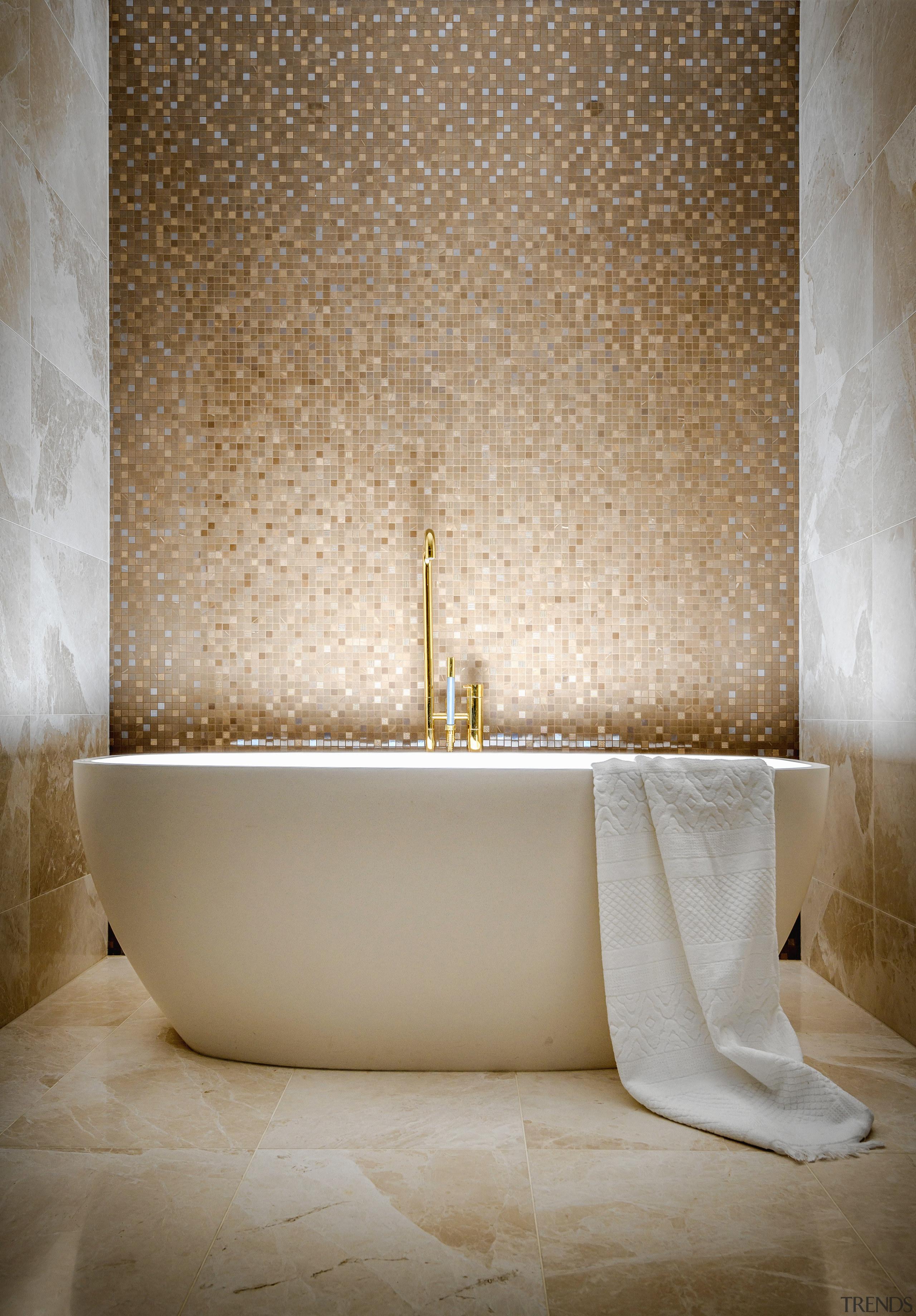 Bathed in luxury – large-format marble tile on architecture, bathroom, bathtub, Davinia sutton, marble tiles, ensuite, freestanding tub