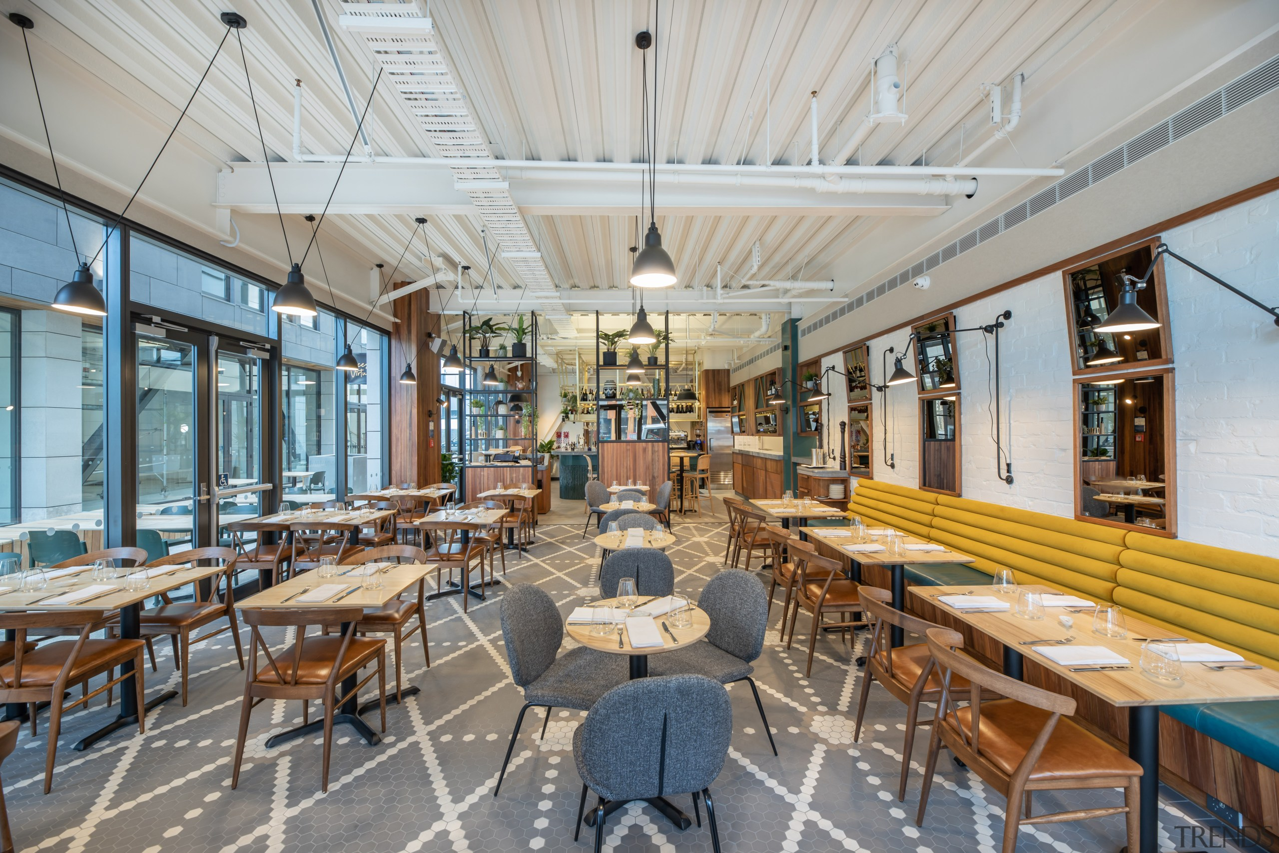 For the Vices & Virtues restaurant/bar at Sudima architecture, building, cafeteria, furniture, interior design, mixed-use, restaurant, Sudima Laneway, Christchurch, Ignite Architects