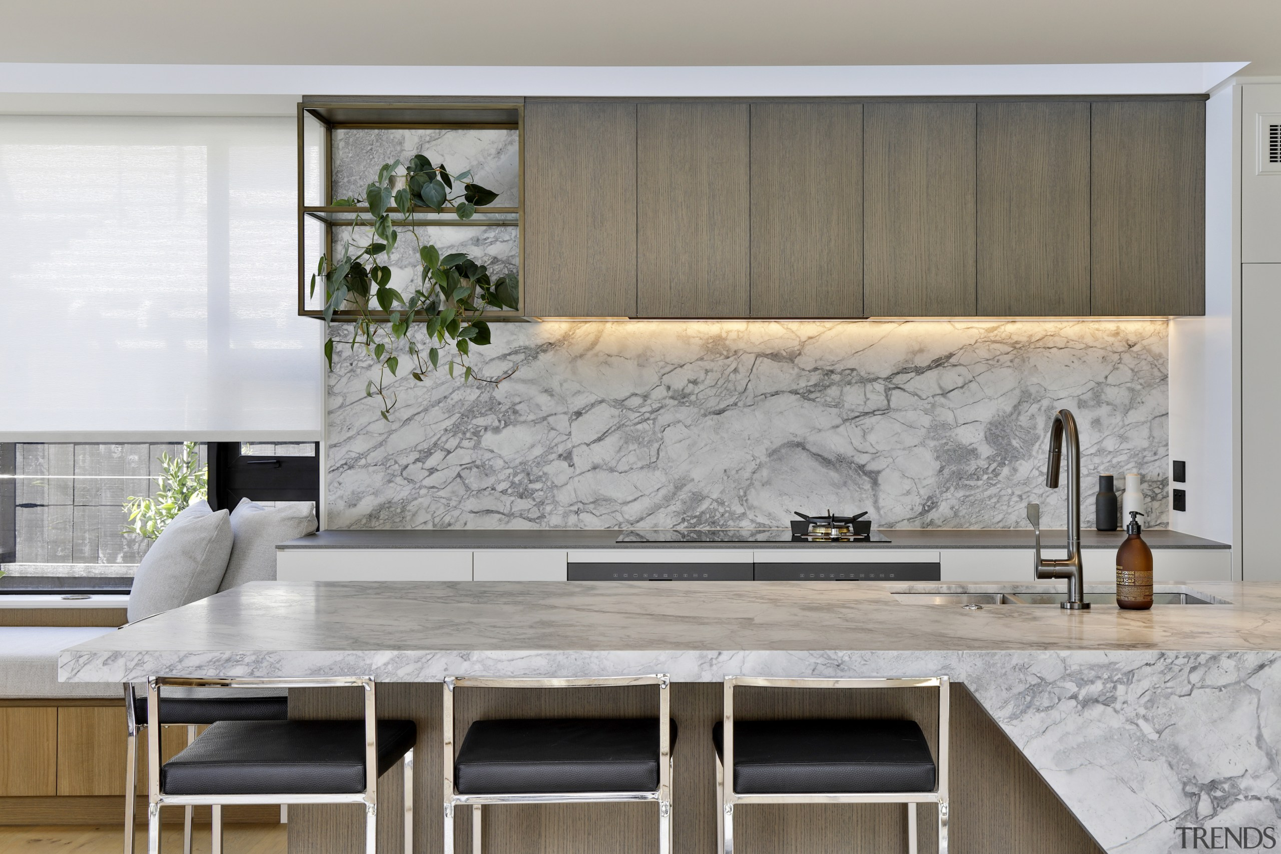 Calm and uncluttered, this kitchen in a home