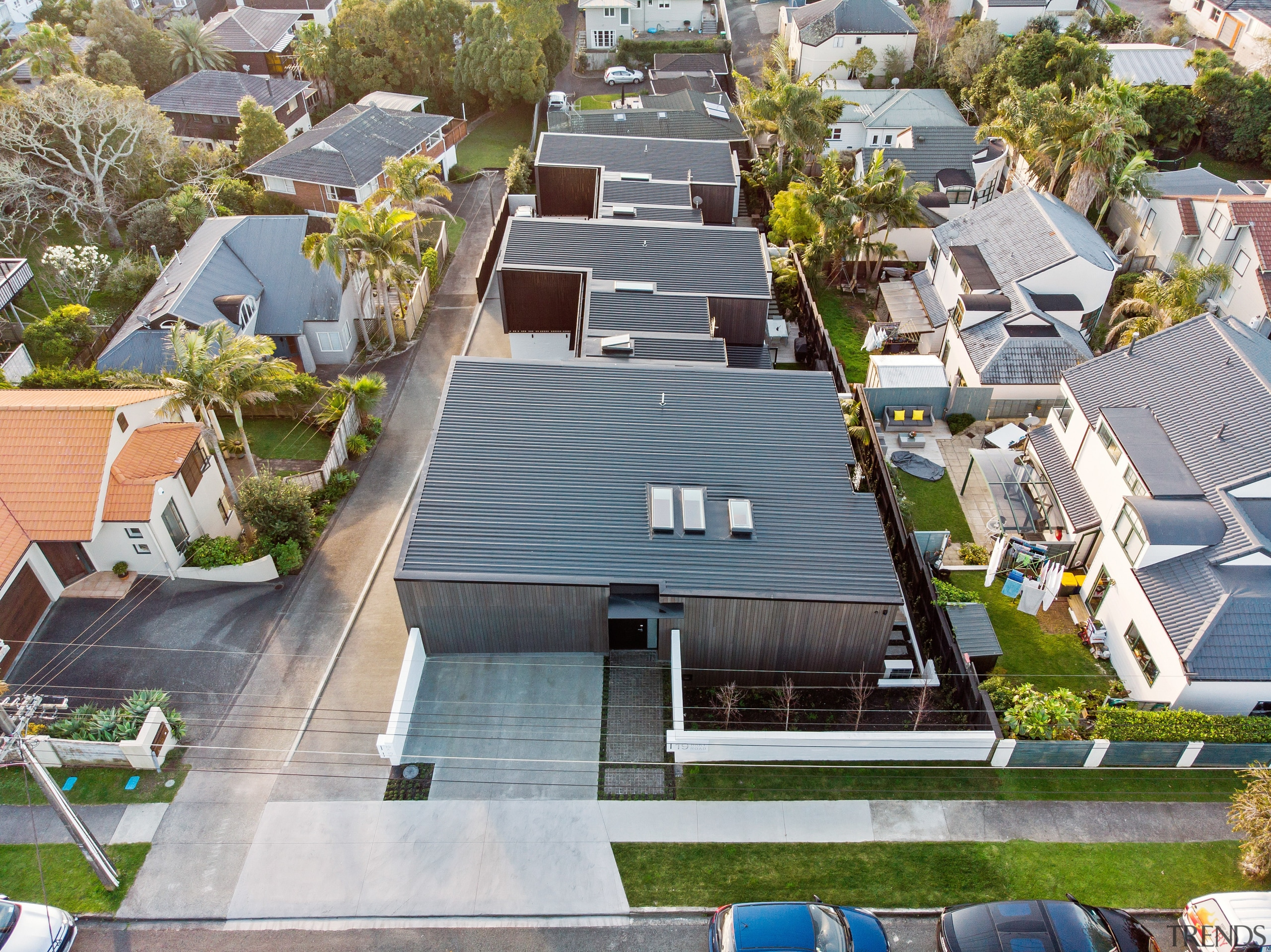 Two existing old houses on this site were aerial photography, apartment, architecture, bird's-eye view, building, city, condominium, facade, home, house, landscape, metropolitan area, mixed-use, neighbourhood, photography, property, real estate, residential area, roof, suburb, urban area, urban design, gray