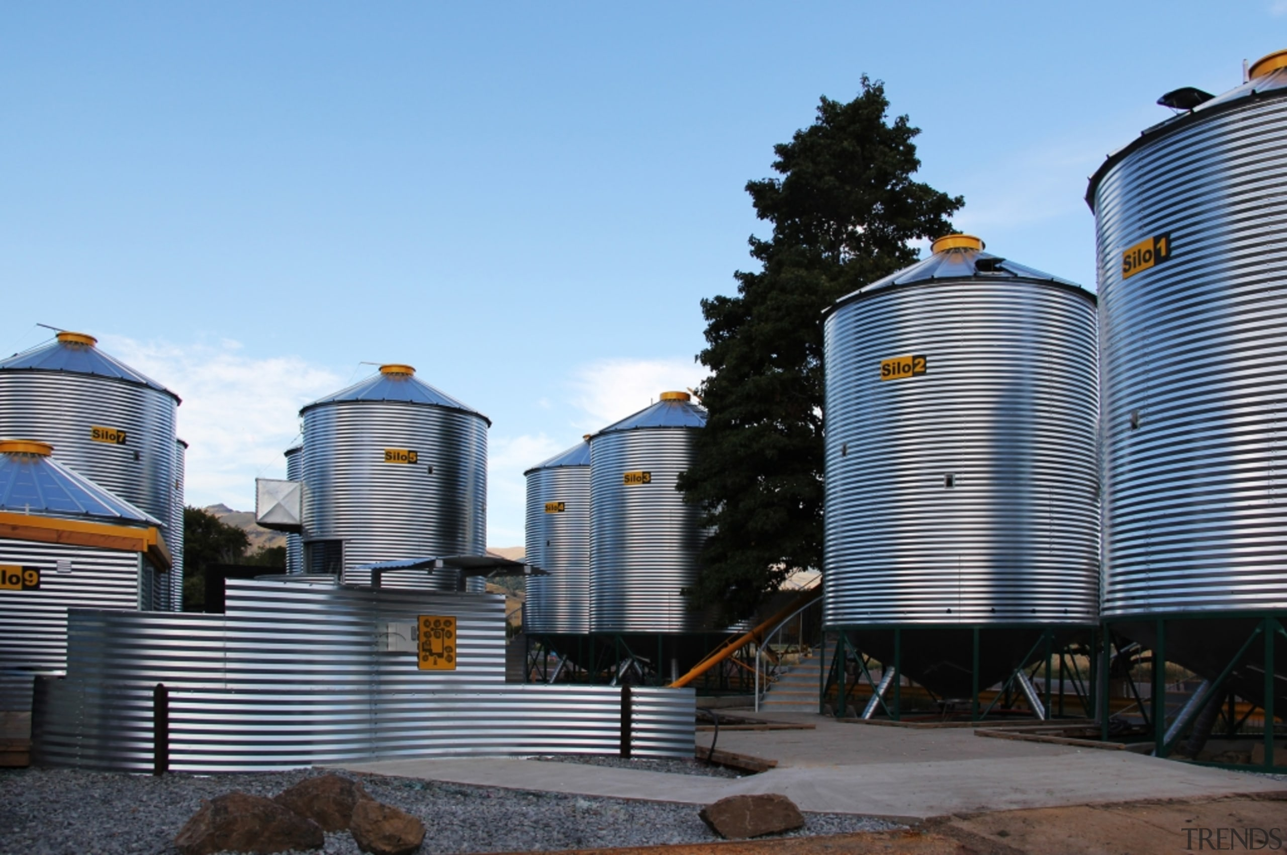 Silostay, Banks Peninsula, New Zealand - architecture   architecture, building, city, real estate, roof, silo, sky, storage tank, water, water tank, teal, black