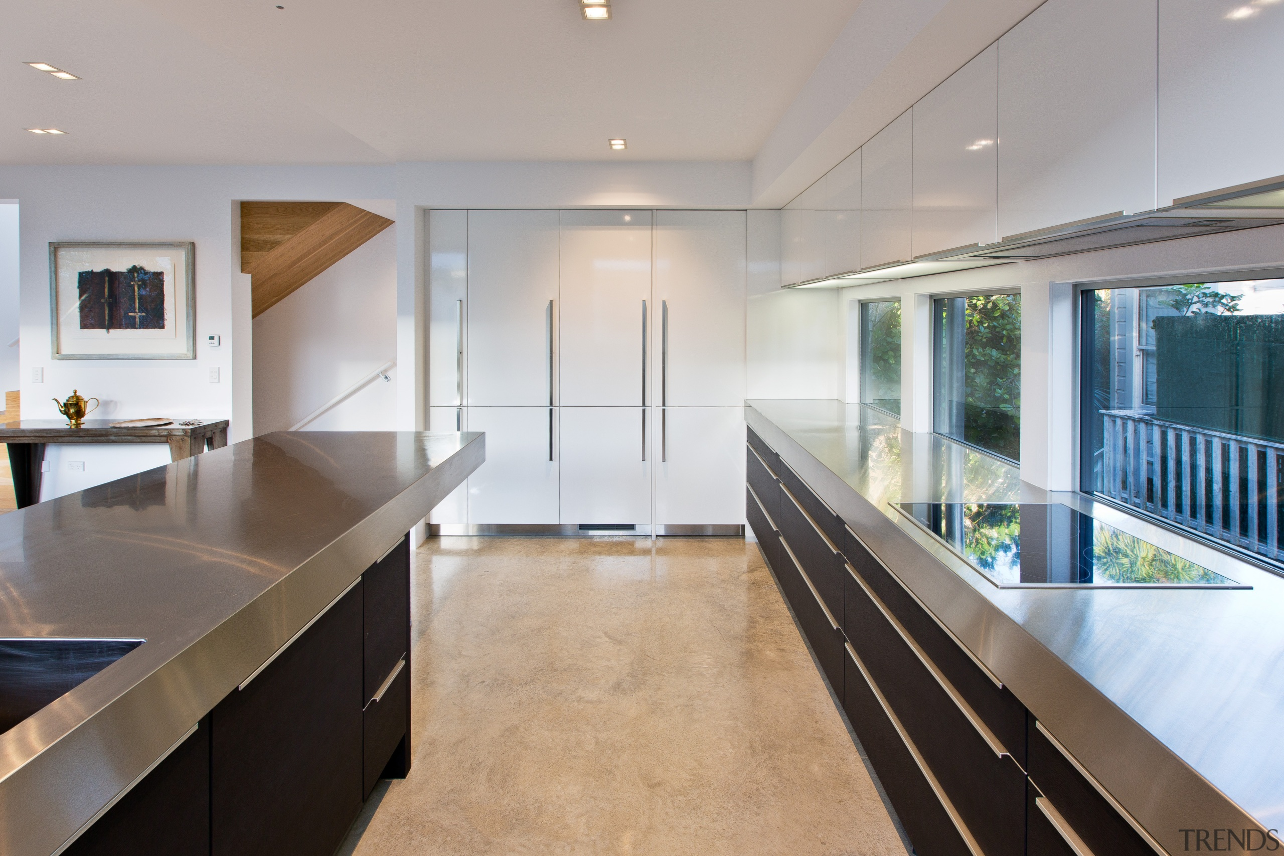 Designer for this project Milvia Hannah of German architecture, countertop, house, interior design, kitchen, real estate, gray