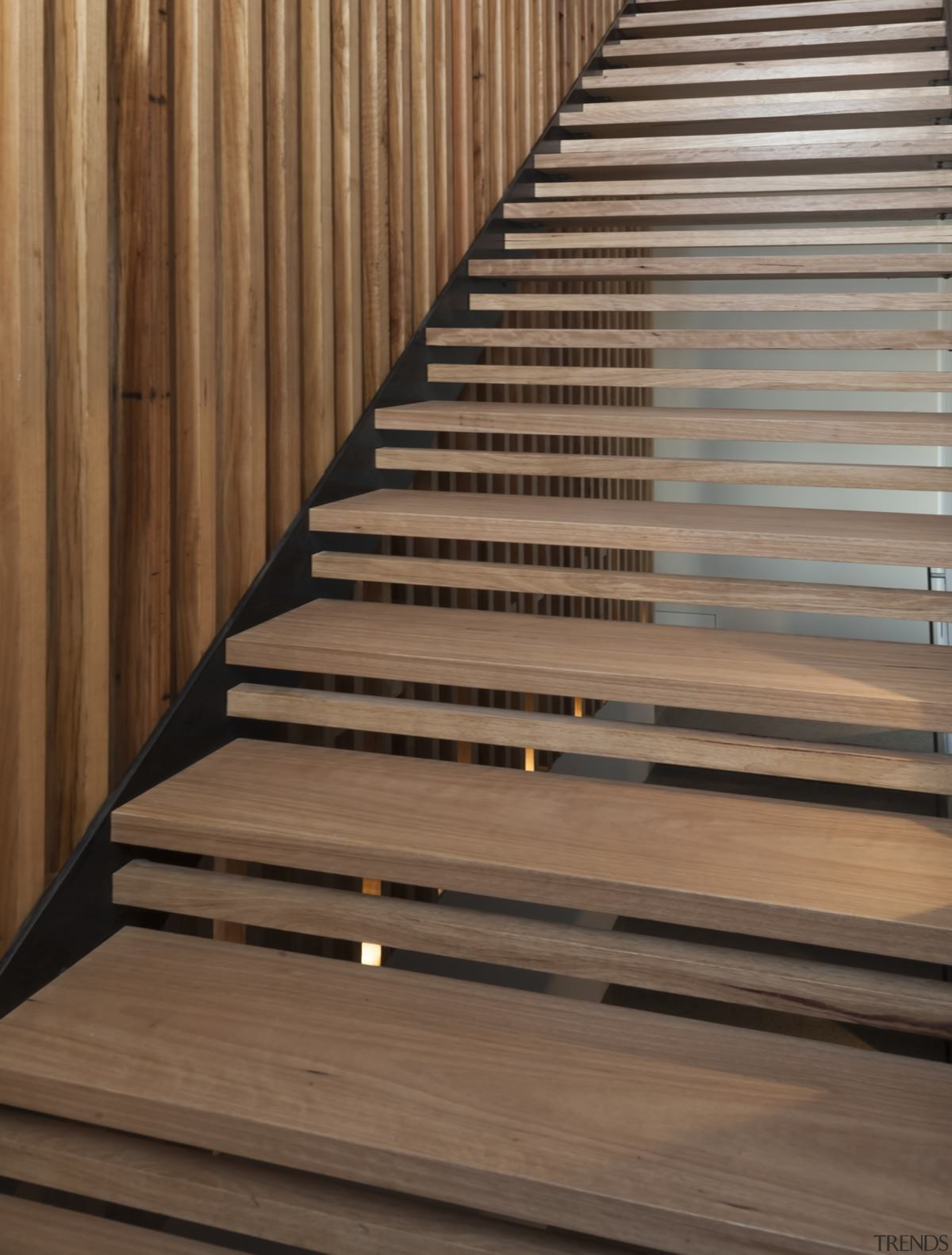 Architect: mcmahon and nerlich architectsPhotography by superk daylighting, floor, handrail, hardwood, laminate flooring, line, lumber, plywood, stairs, wood, wood stain, brown