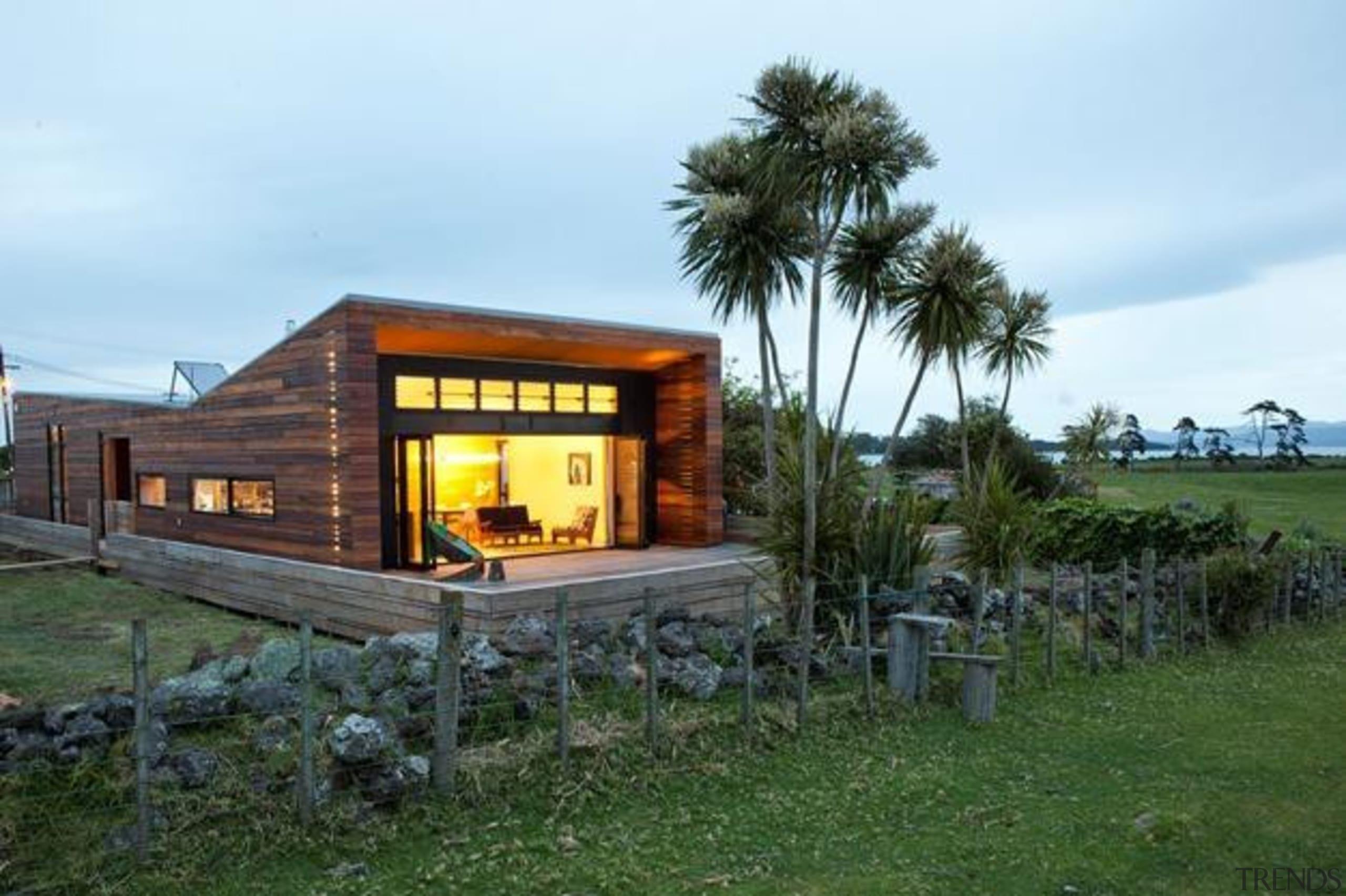 evening shot - evening shot - cottage   cottage, home, house, real estate, shed, teal
