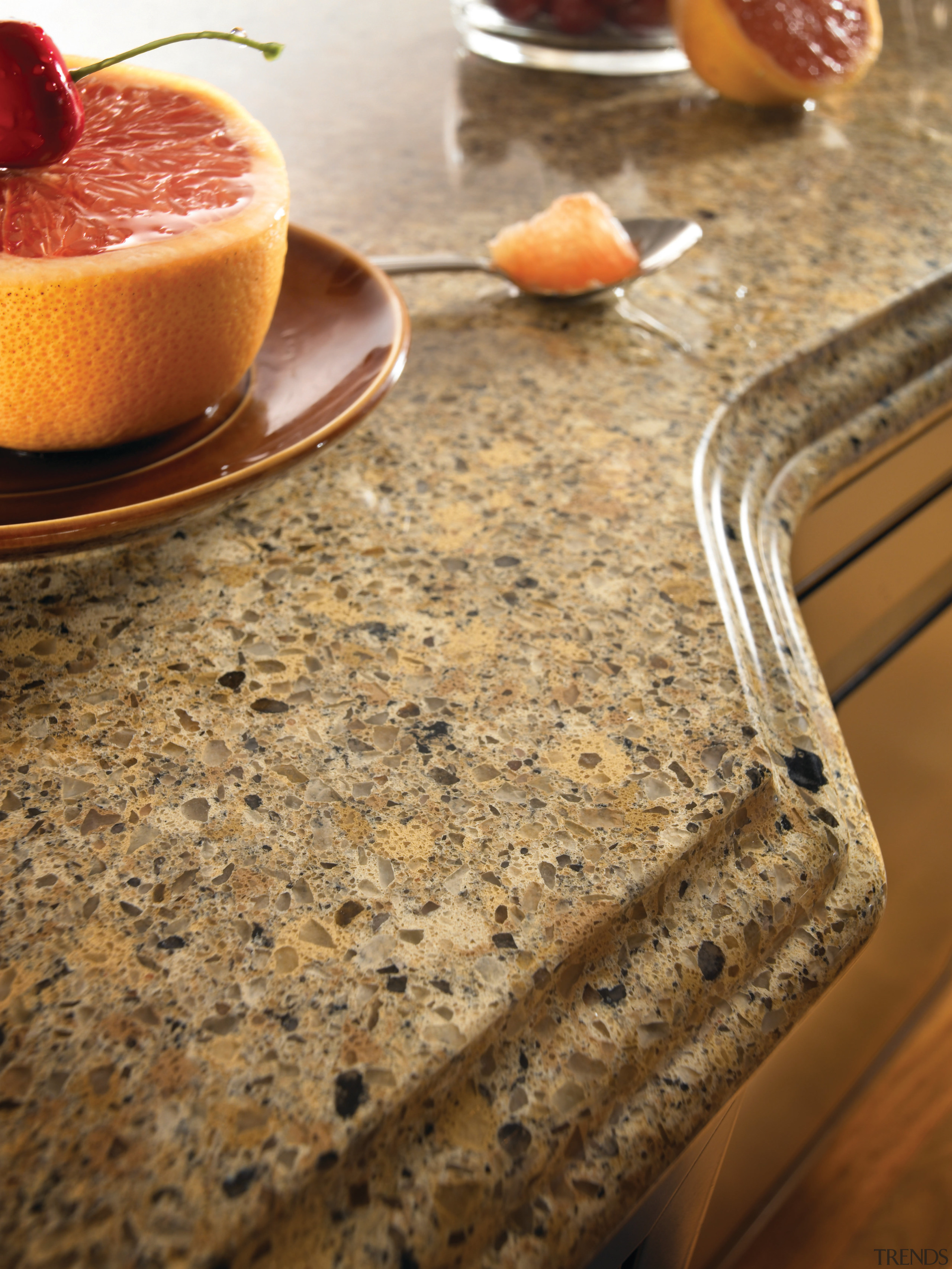 Other silestone surfaces include, Koan and Gedastu from brown, orange