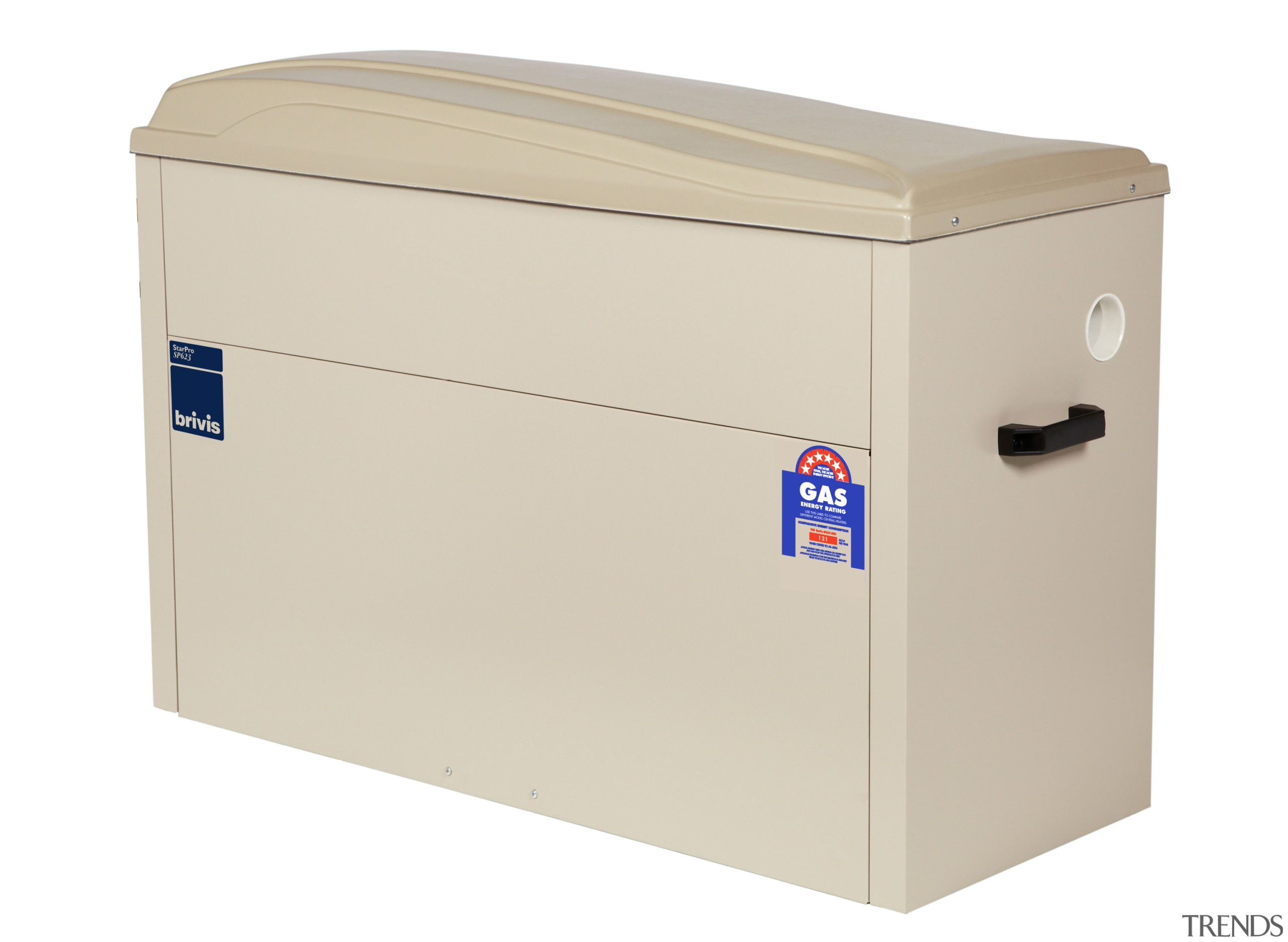 Heater box for gas central heating - Heater product, product design, white