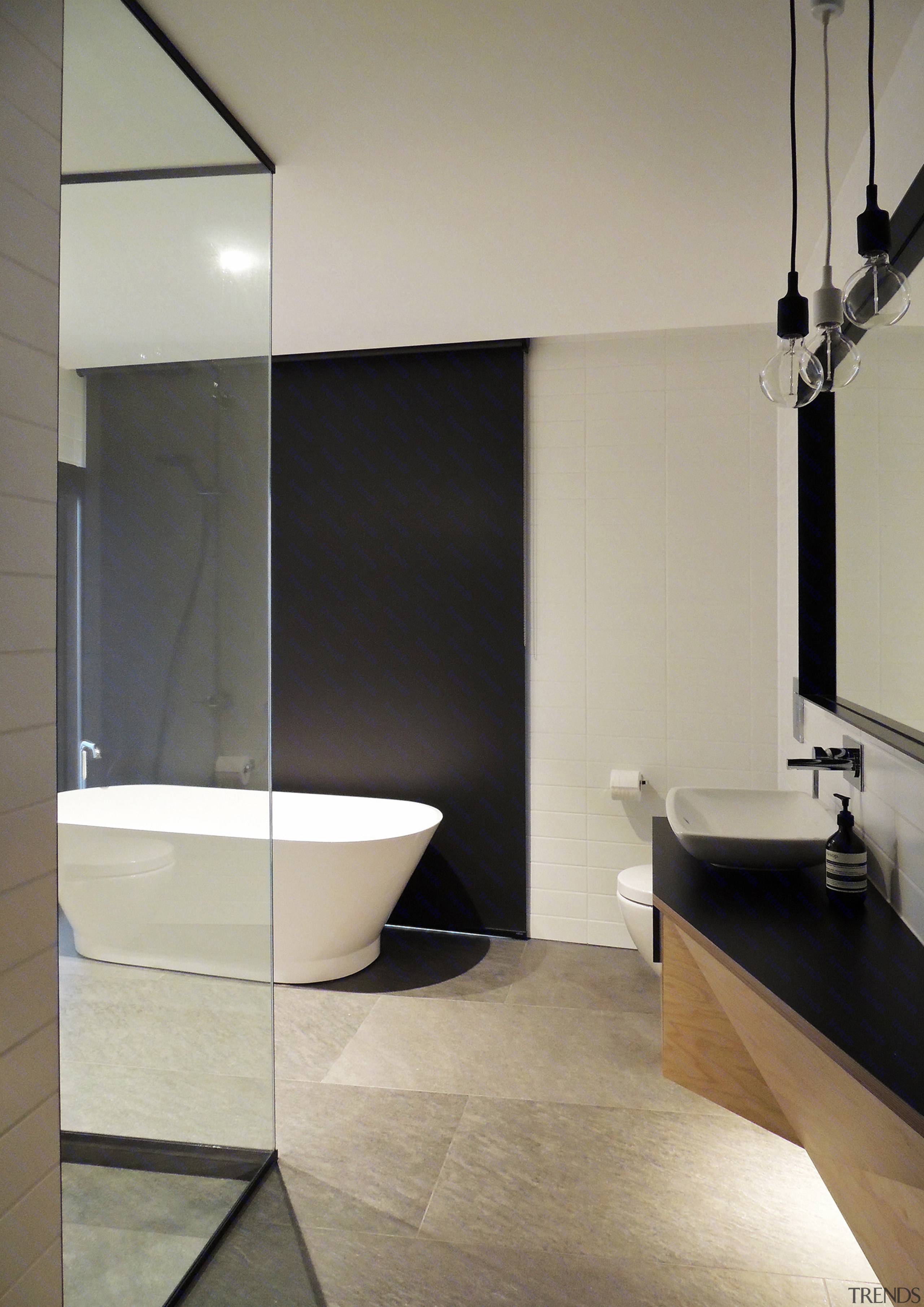 A Freestanding Tub And A Floor To Ceiling Glass Shower Architecture, Bathroom,