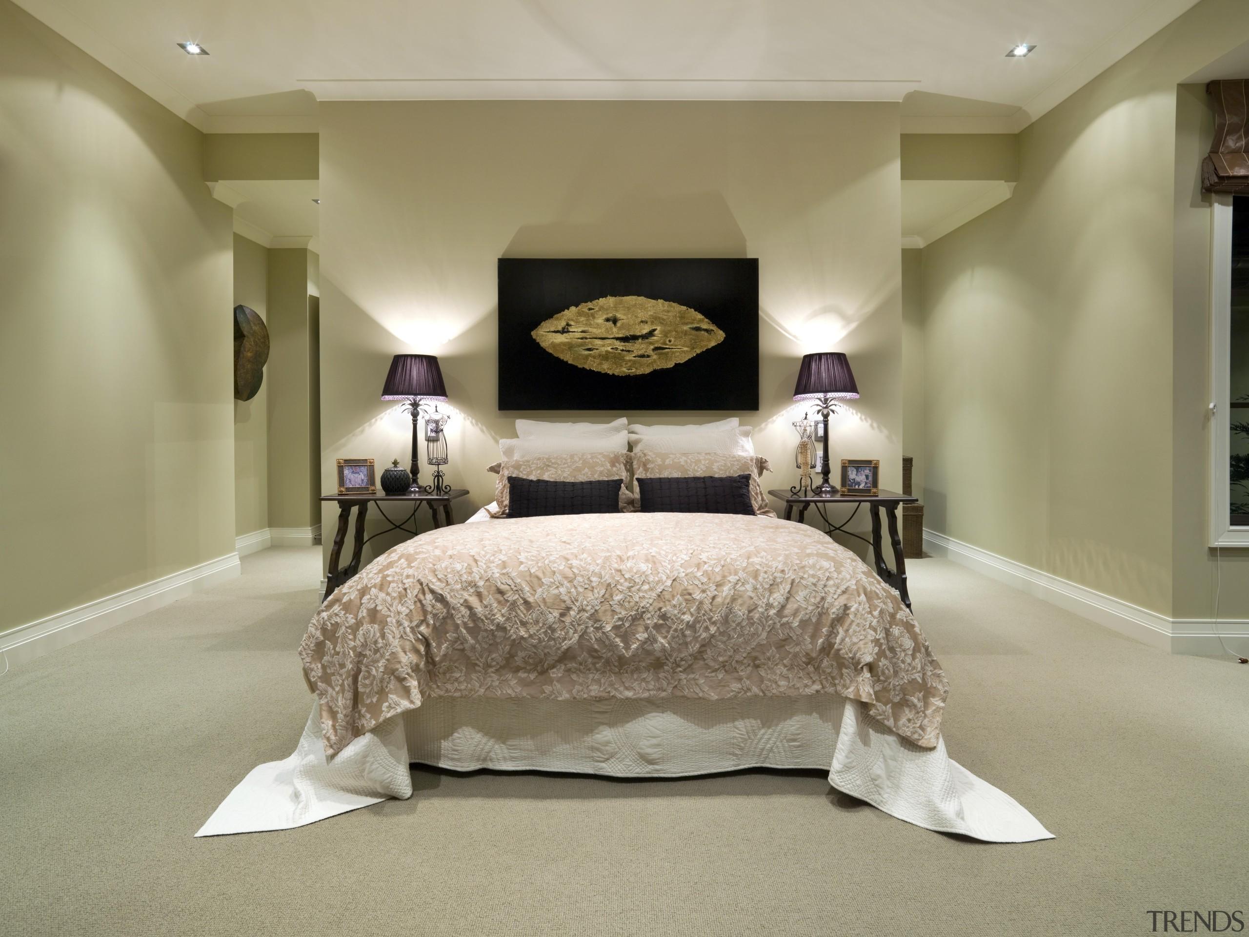 116goodlands 216 - Goodlands_216 - bed   bed bed, bed frame, bedroom, ceiling, floor, furniture, home, interior design, room, suite, wall, orange