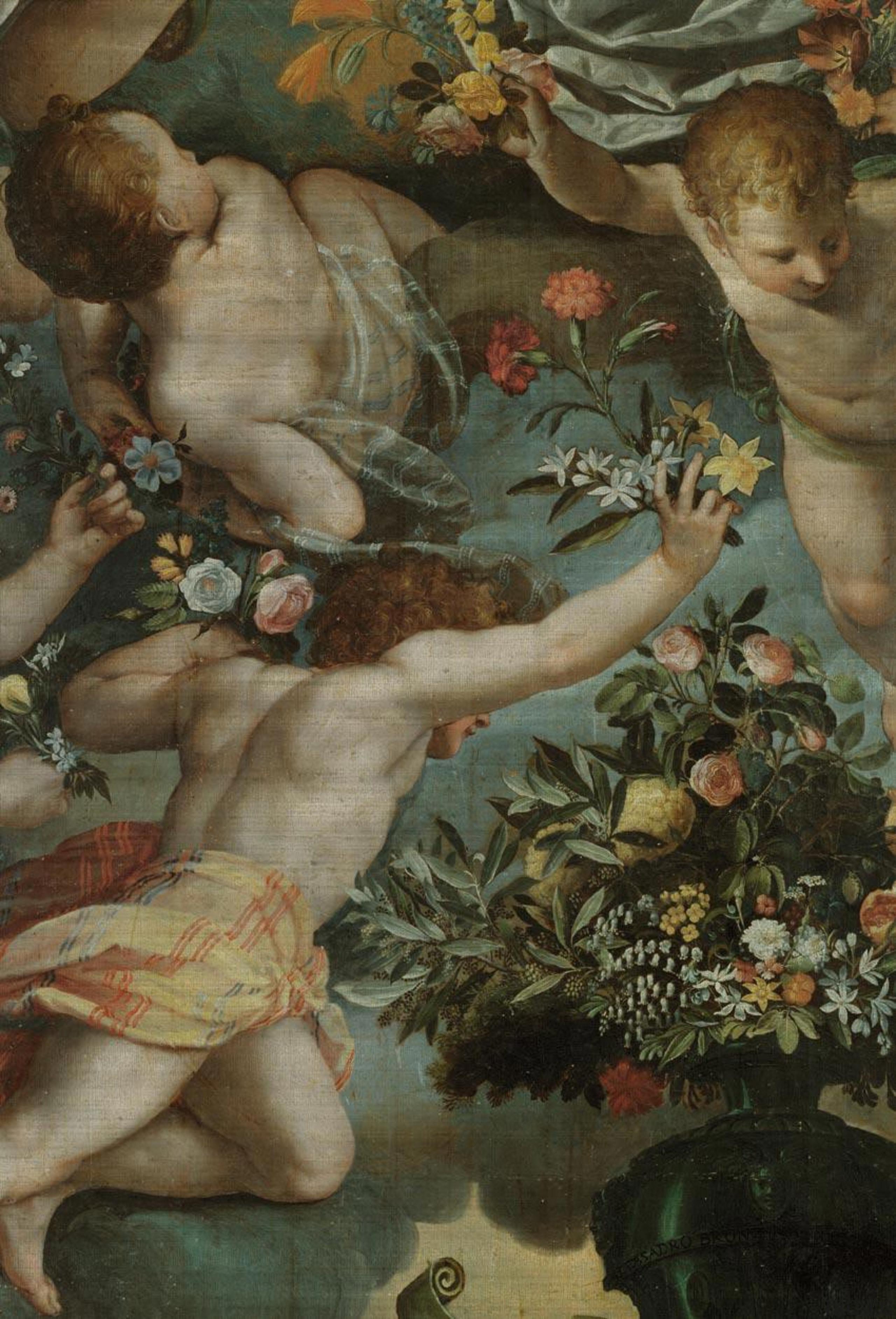 Venetian Damask Range - art   mythology   art, mythology, organism, painting, brown