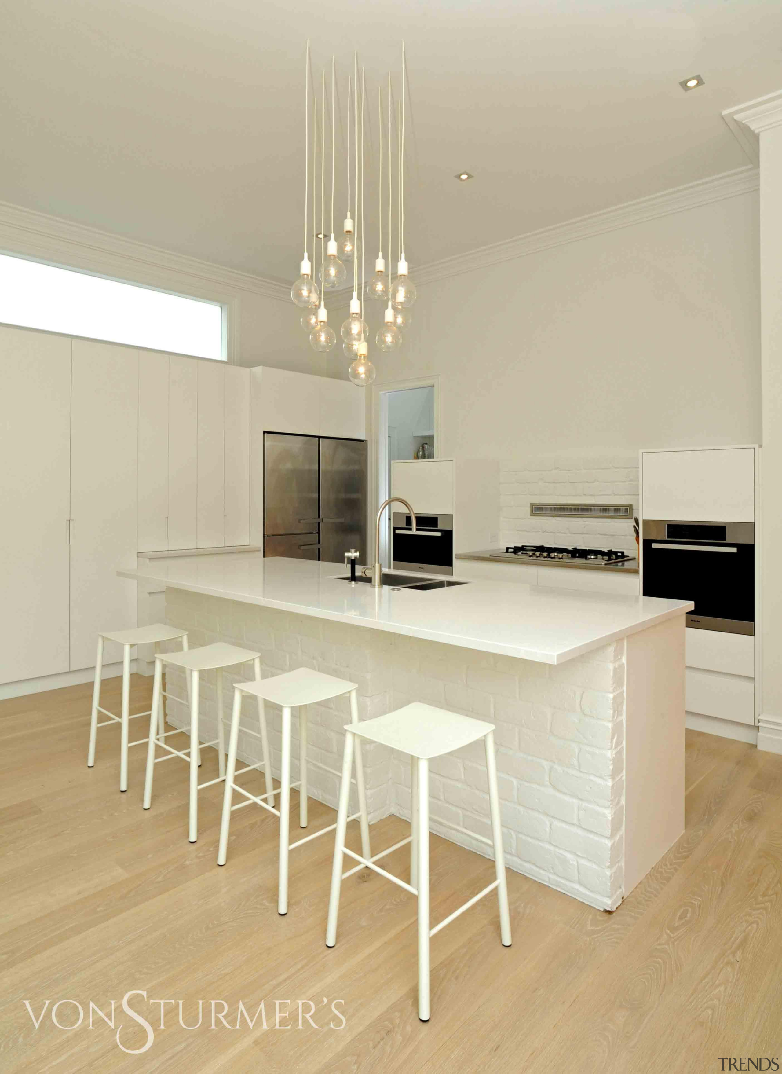 Herne Bay Villa - Herne Bay Villa - floor, flooring, furniture, interior design, kitchen, product design, table, wood flooring, orange