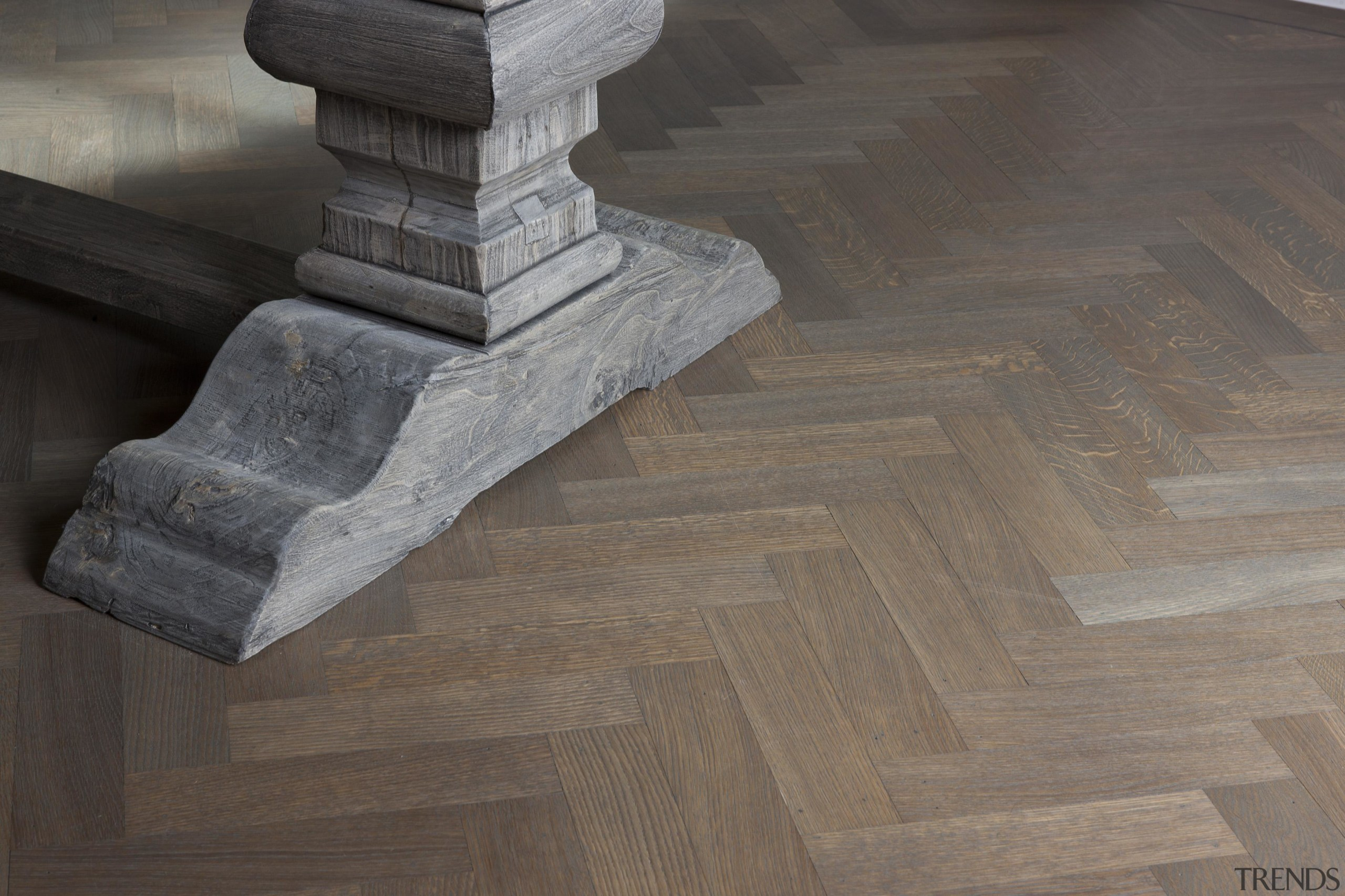 Oak Herringbone Oiled Parquet Wood Floor - floor floor, flooring, hardwood, wood, gray, black