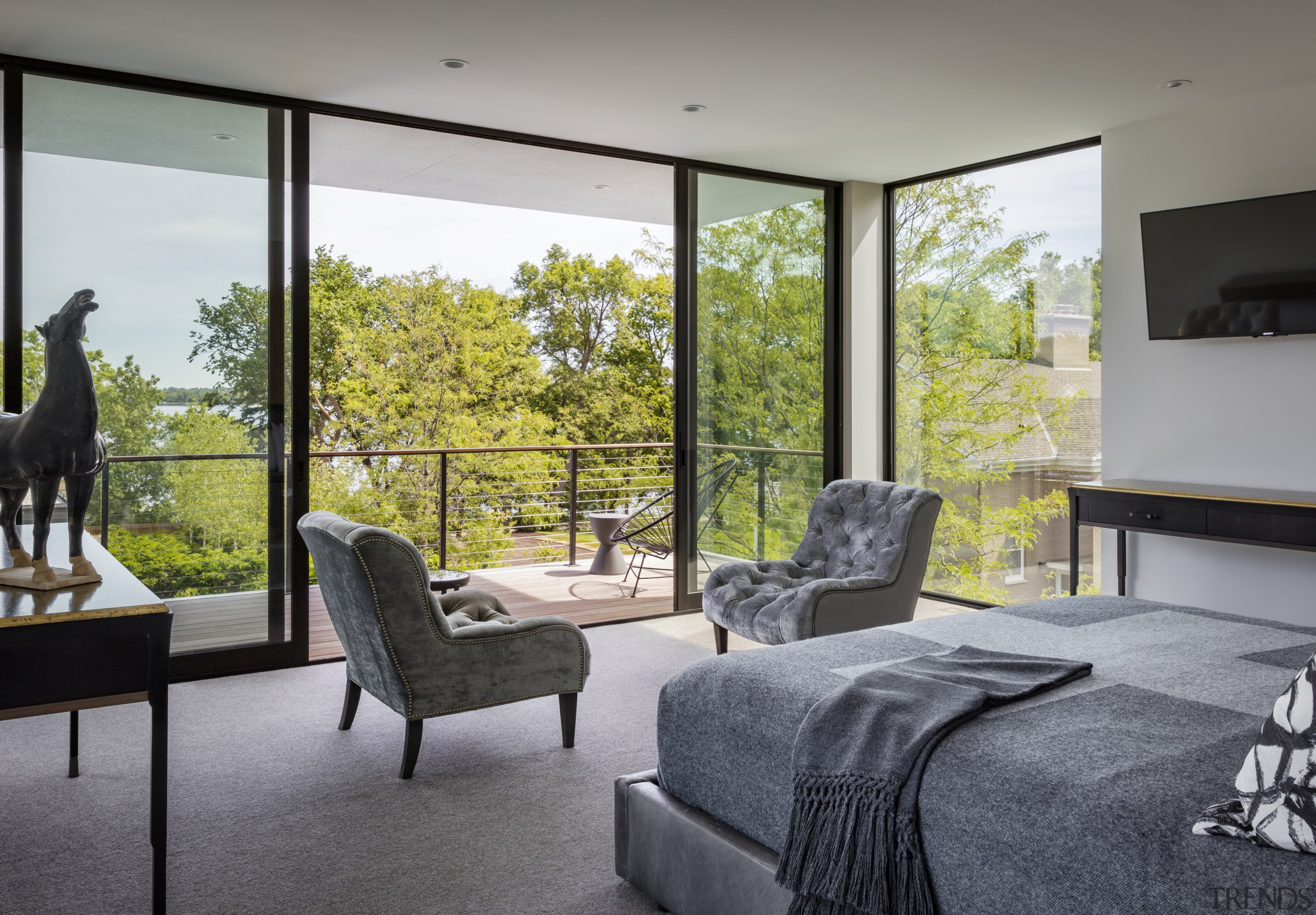 Positioning the master suite on the second level architecture, home, house, interior design, bedroom, window, gray, furnture