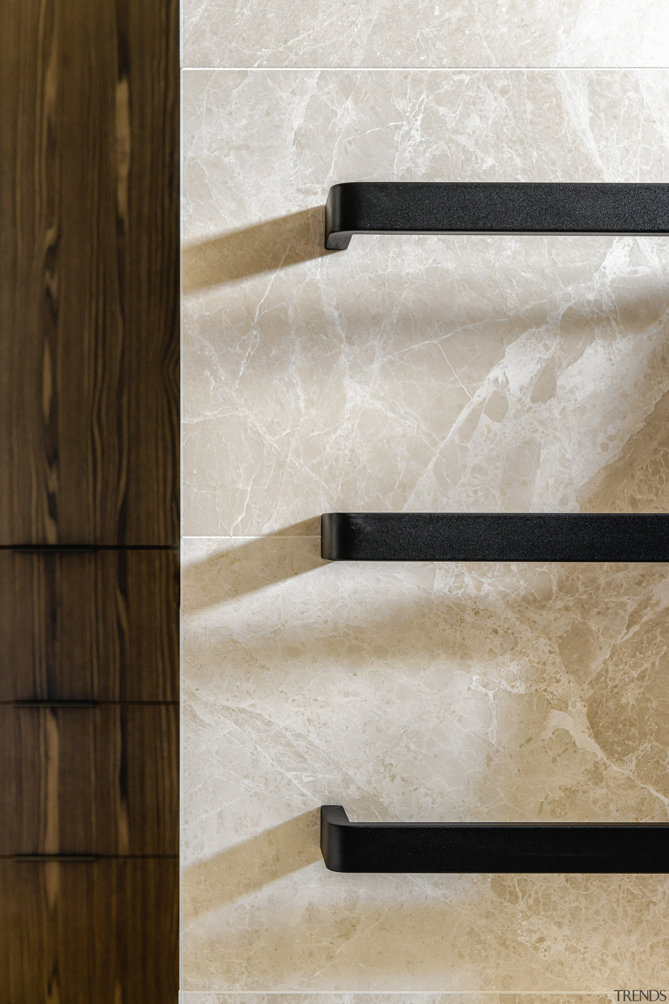 Marble, wood and gold aren't the only colour Davinia Sutton, Bathroom, towel rail
