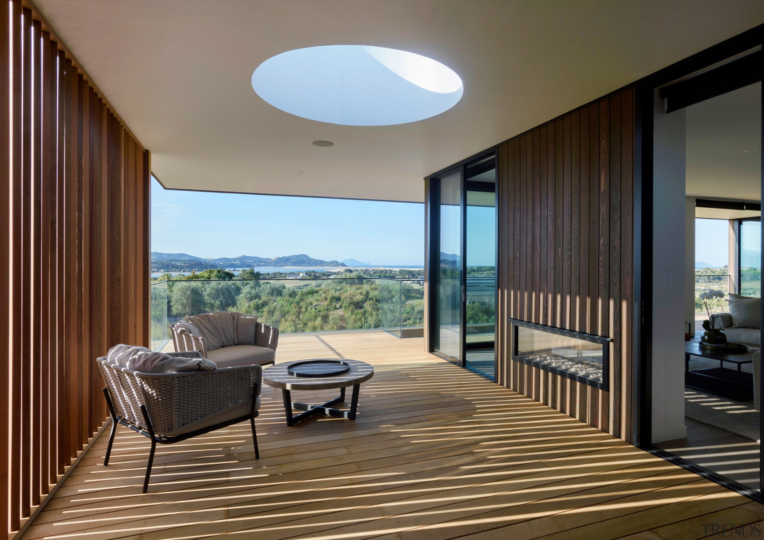 The home's design meant the central aperture of
