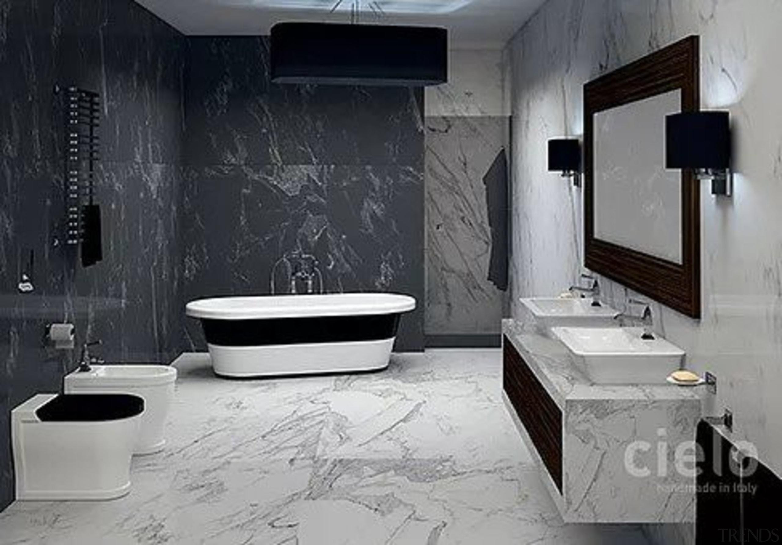 Opera Tonda - Opera Tonda - bathroom | bathroom, black, floor, interior design, plumbing fixture, product design, room, tile, toilet, wall, gray, black
