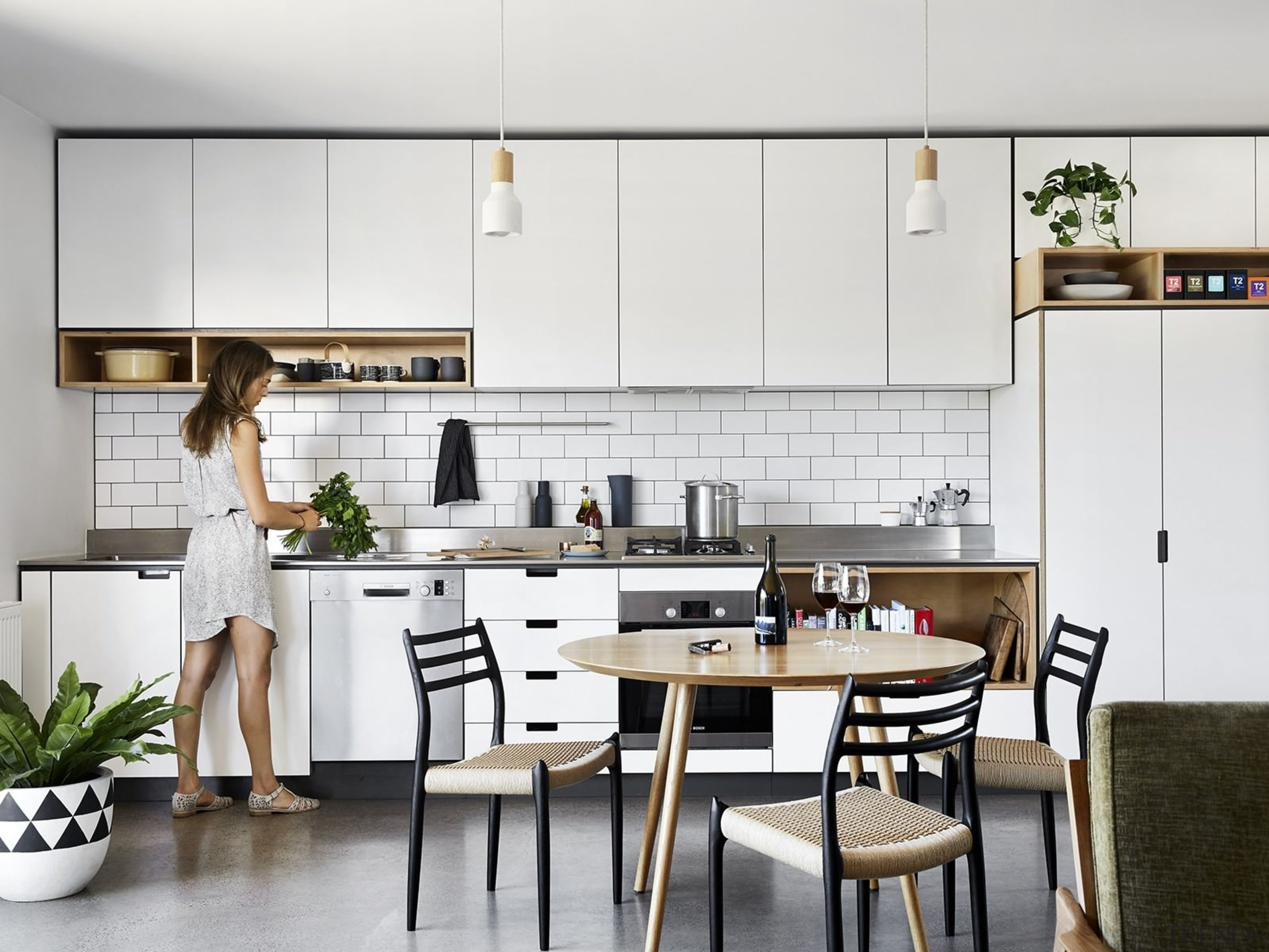 Architect: Liam WallisPhotography by Tess Kelly countertop, cuisine classique, furniture, interior design, kitchen, product design, room, white