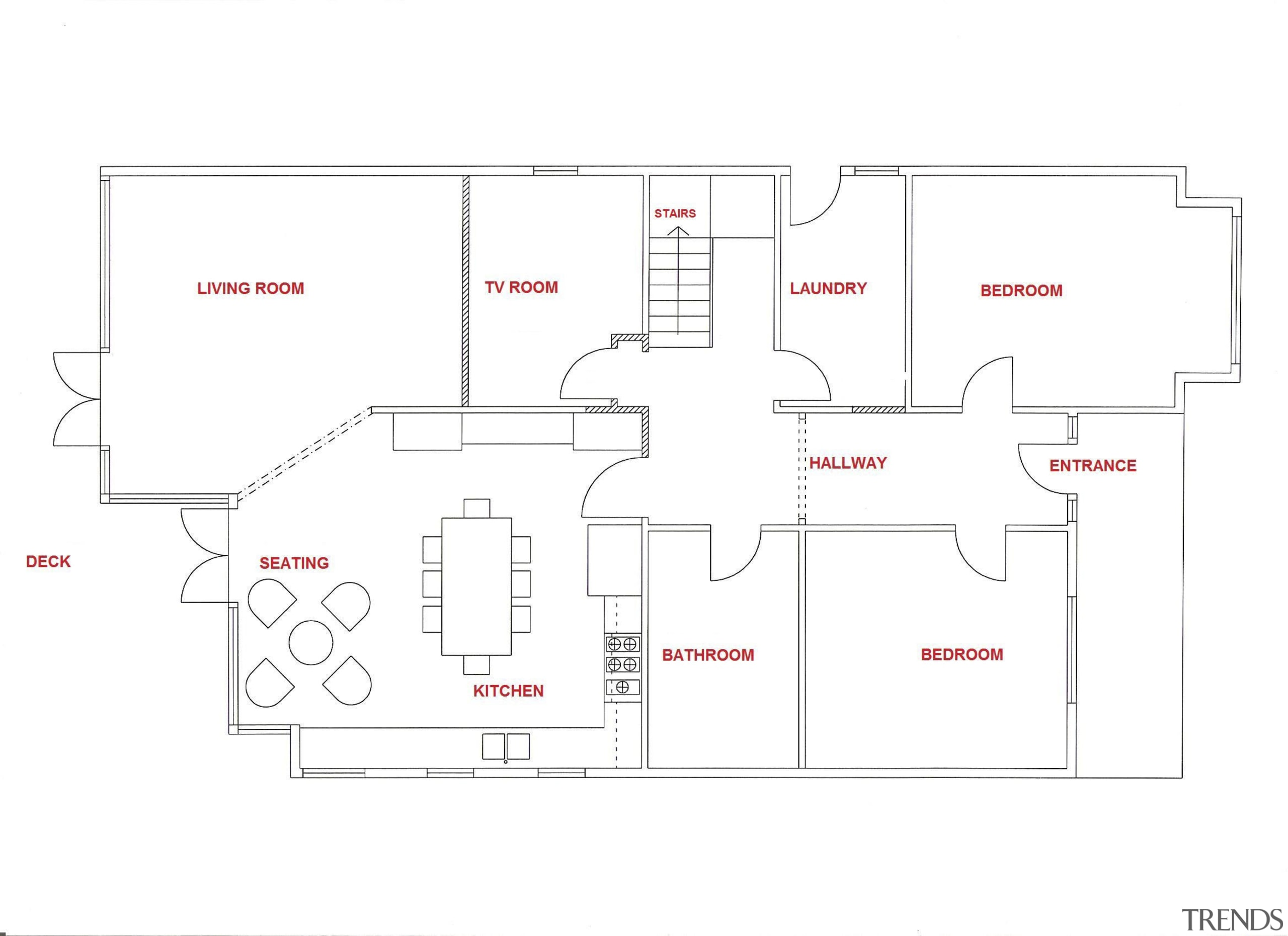 Architectural view of kitchen & other rooms - area, design, diagram, floor plan, line, plan, product, product design, text, white