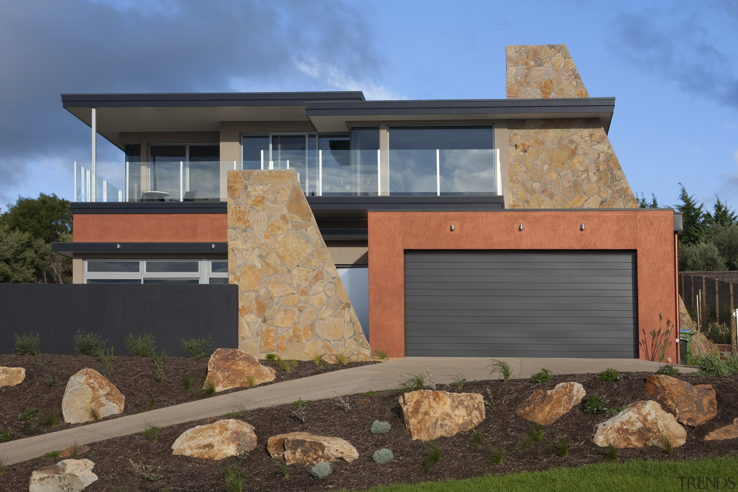 Contemporary home designed and built by Graeme Alexander architecture, building, elevation, facade, home, house, property, real estate, residential area, siding, window