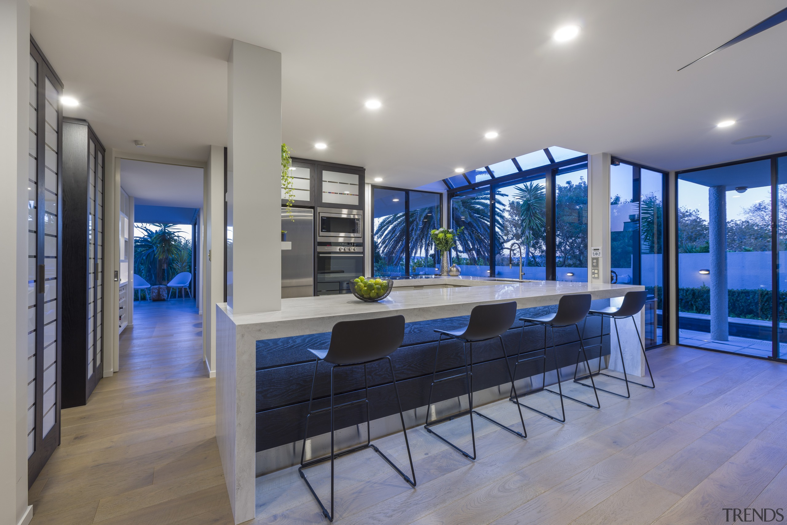 ​​​​​​​Crisp Corian benchtops play off the  warm wood architecture, house, home, kitchen, fyfe Kitchens, Kira Gray, Corion, benchtop, kitchen renovation