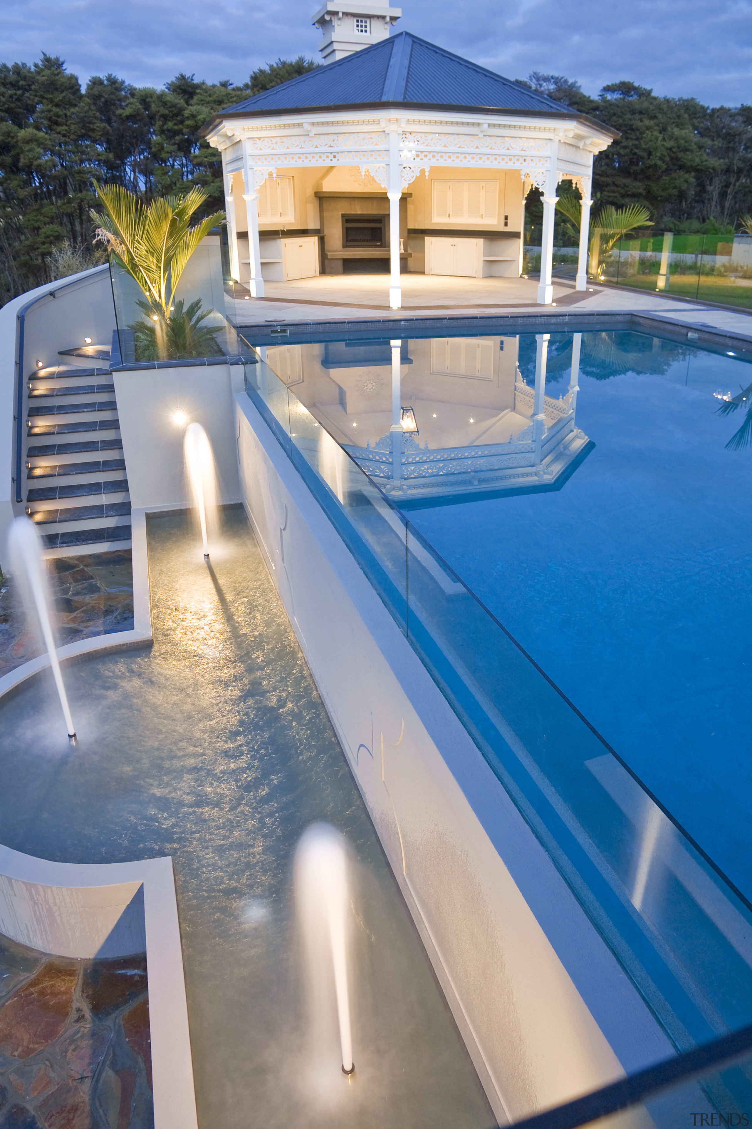 Morgan Pools Created The Pool, Spa And Water Features For