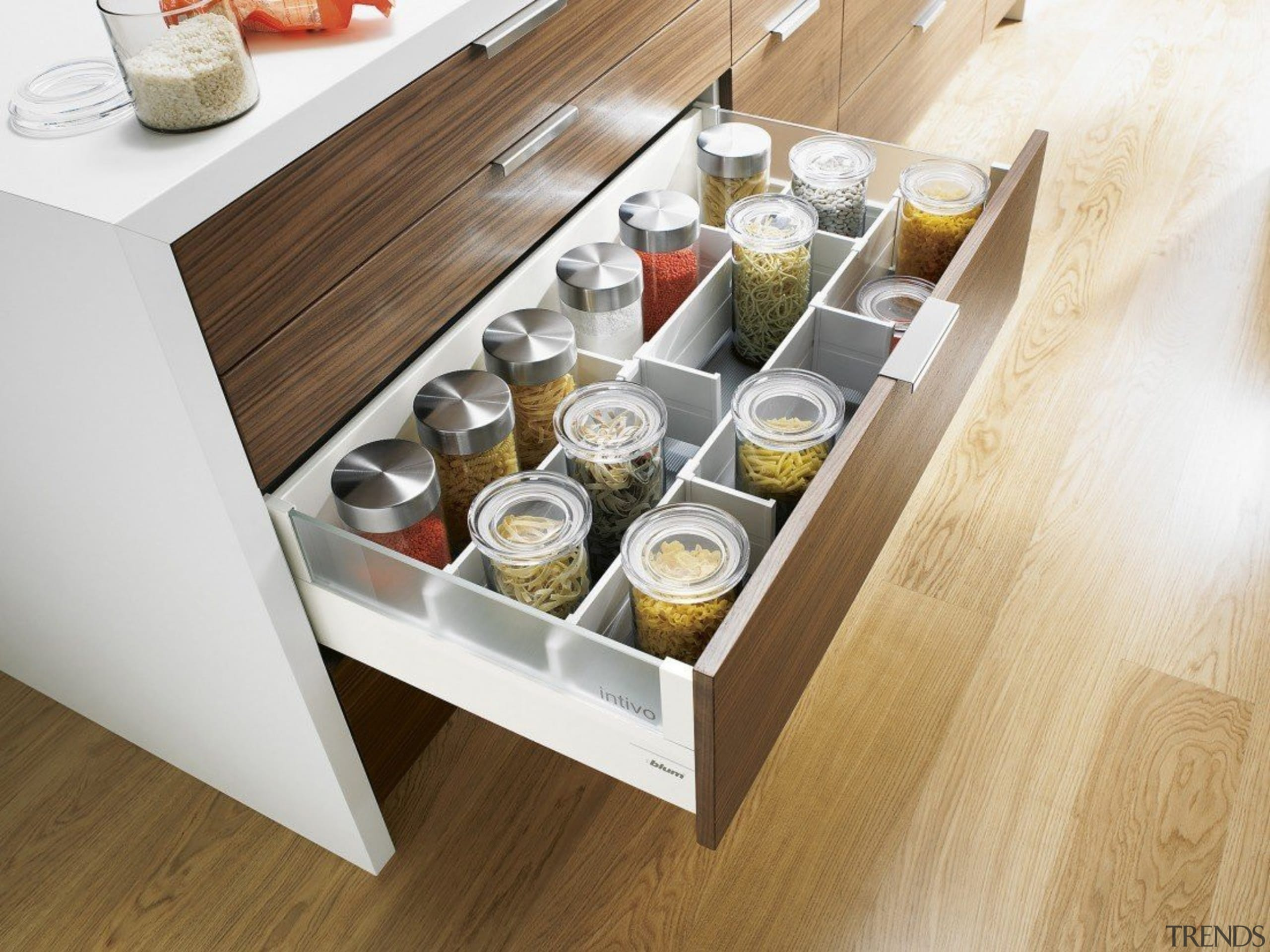ORGA-LINE inner dividing system – so many practical drawer, furniture, product design, table, white, brown