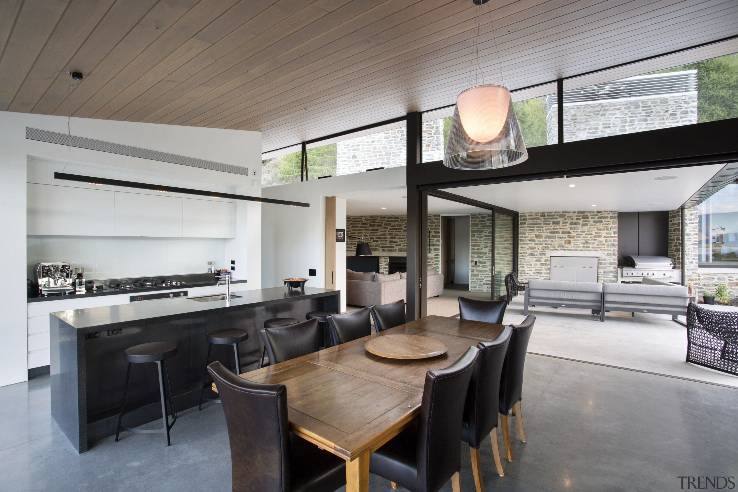 Access from the living area to the courtyard architecture, house, interior design, real estate, gray