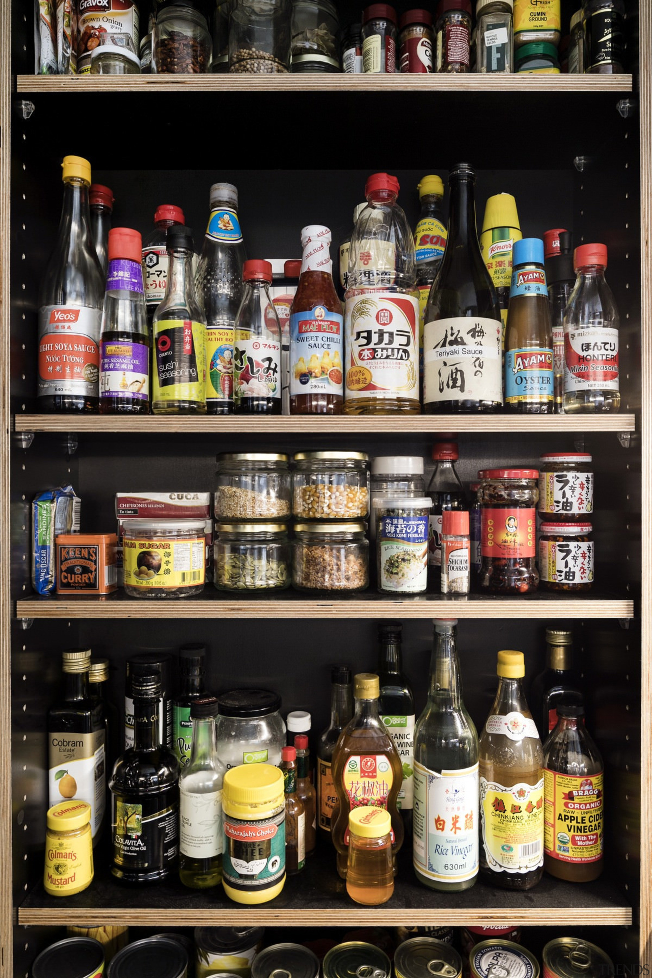 Easy access to condiments and spices - Easy alcohol, bottle, distilled beverage, drink, kitchen organizer, liquor store, product, shelf, black