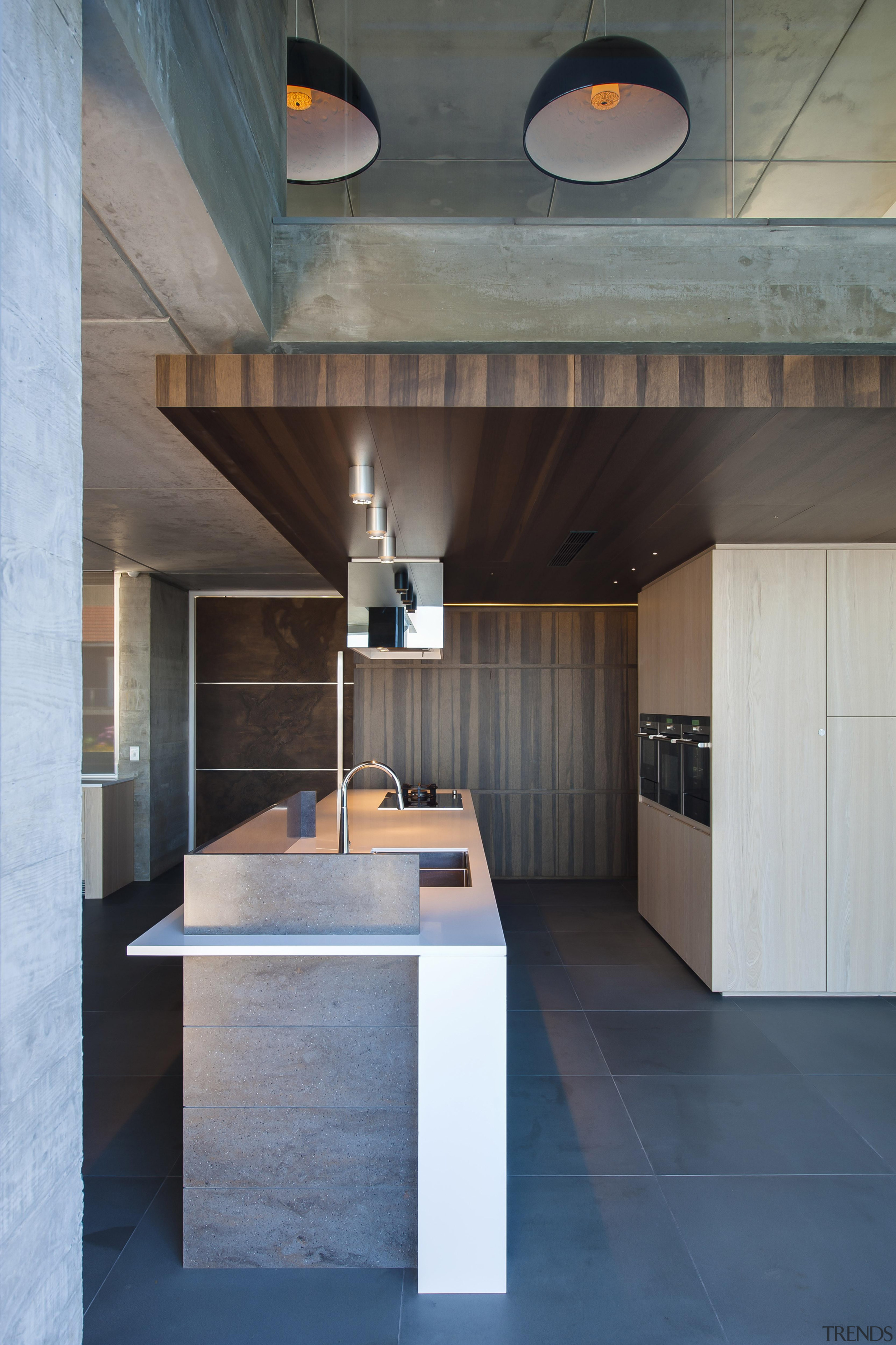Winner Kitchen Design and Kitchen of the Year architecture, ceiling, countertop, daylighting, floor, house, interior design, loft, product design, table, gray