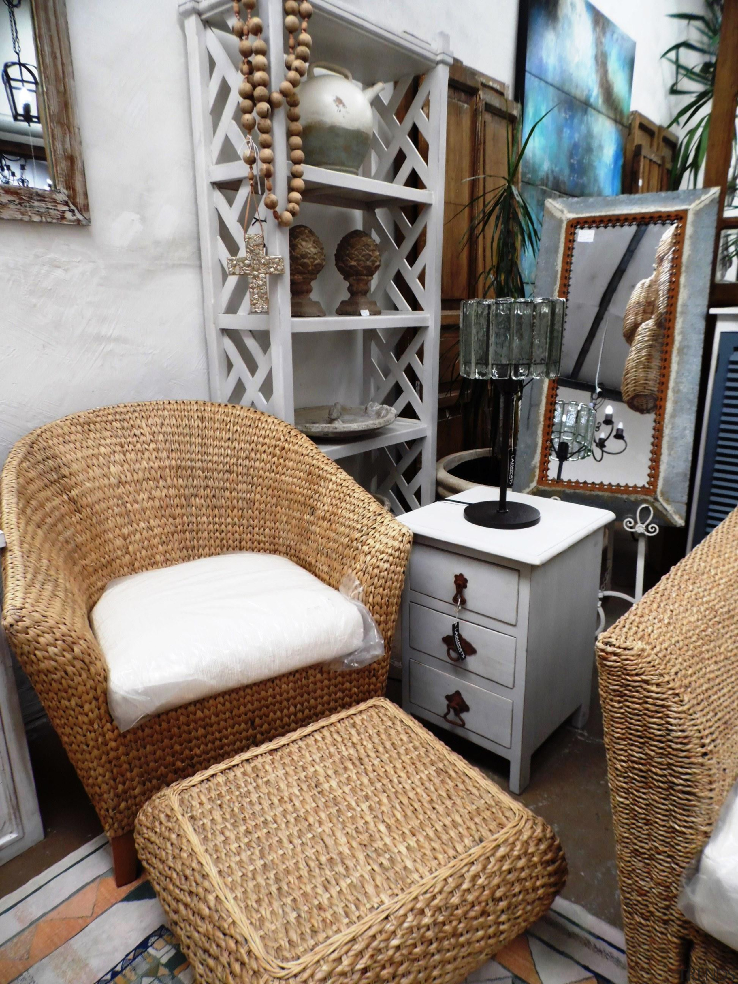 Water hyacinth furniture will always create the feeling chair, furniture, home, interior design, living room, room, table, wicker, brown