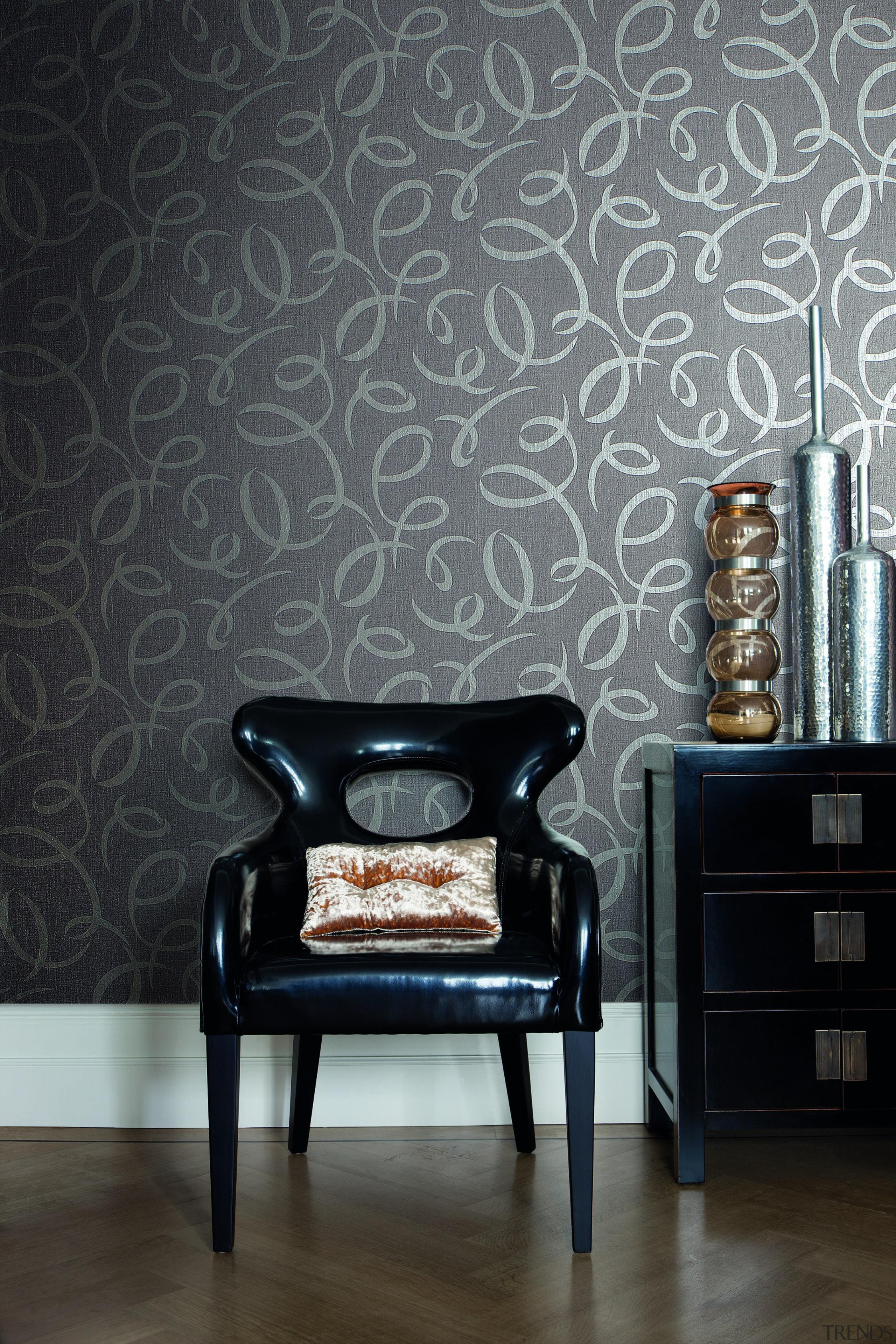 Hidden Richness Range - Hidden Richness Range - black, chair, couch, floor, furniture, interior design, living room, table, wall, wallpaper, black, gray