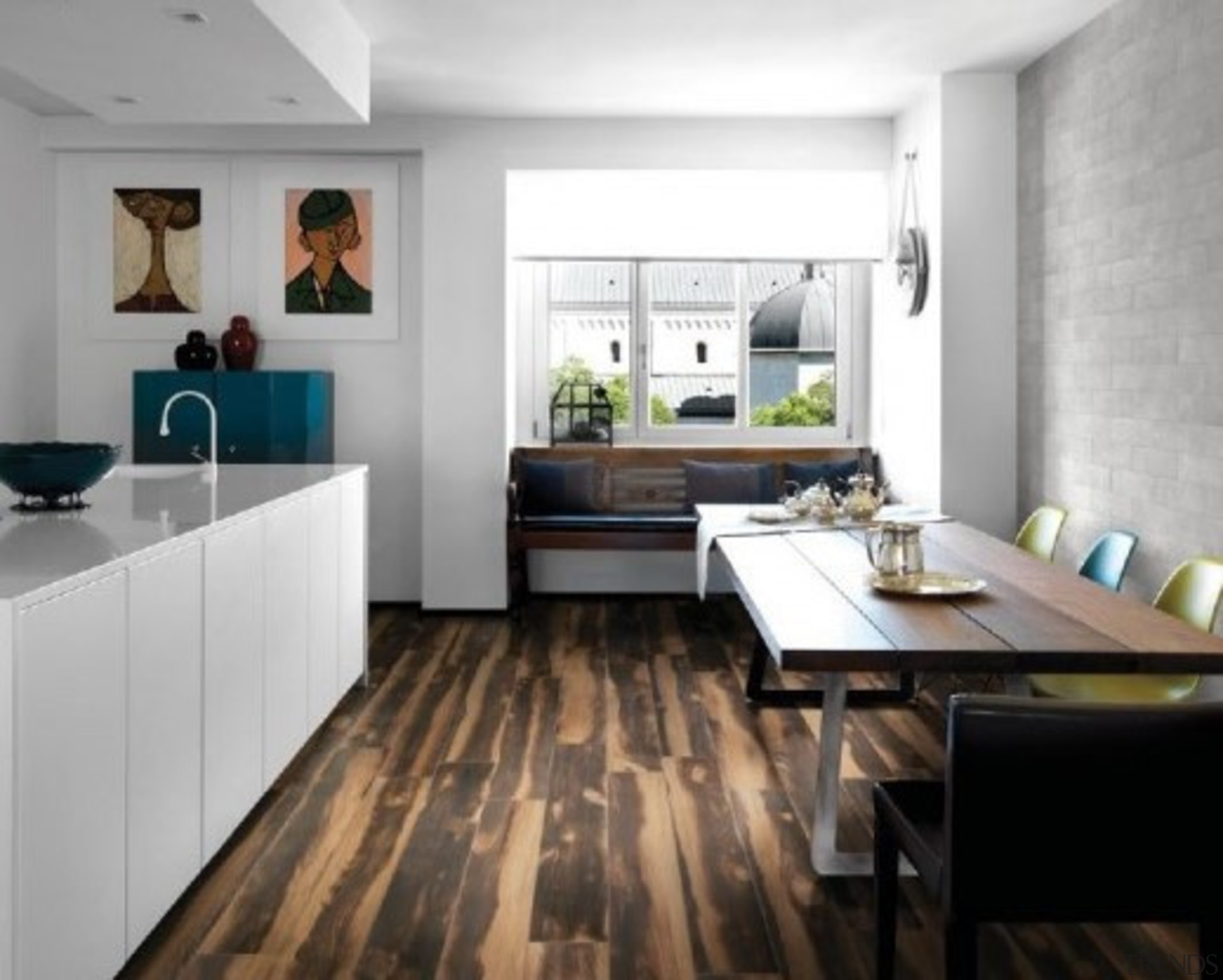 Burned Tanned 200x1200mm - Burned Tanned 200x1200mm - countertop, floor, flooring, interior design, kitchen, laminate flooring, room, wood flooring, white