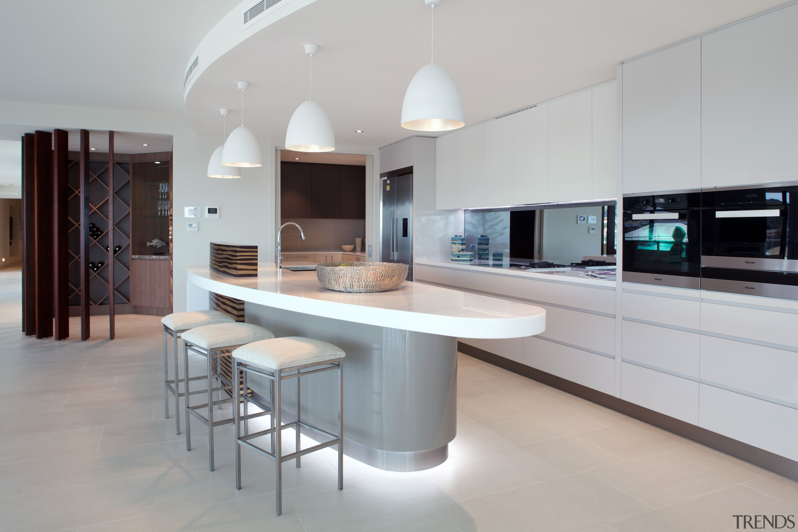 This kitchen, by Styline Kitchens, features a large countertop, cuisine classique, interior design, kitchen, real estate, gray