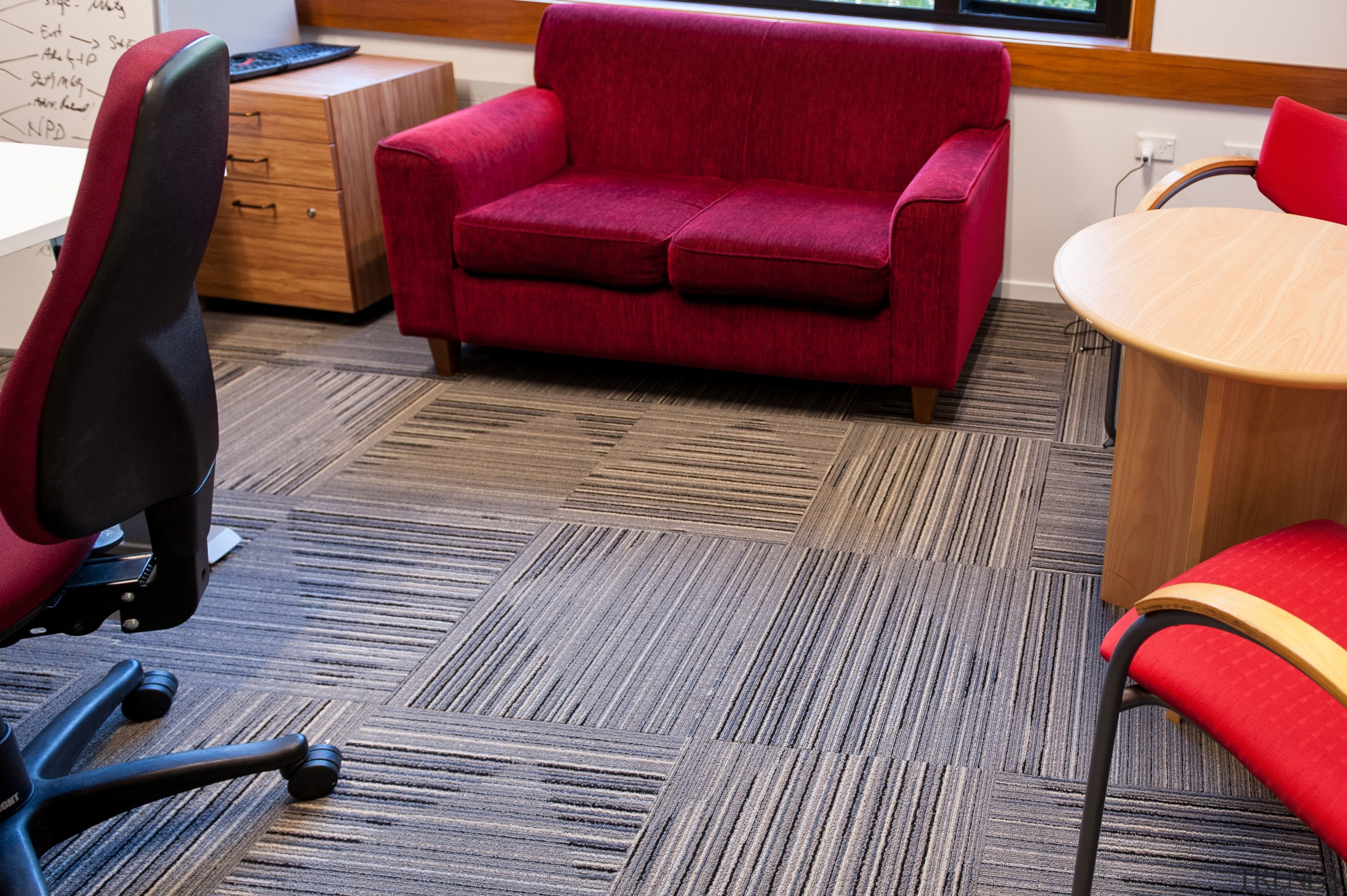 Durable, good-looking carpet tiles for commercial use angle, carpet, chair, couch, design, floor, flooring, furniture, hardwood, interior design, laminate flooring, living room, product design, room, table, wood, wood flooring, gray