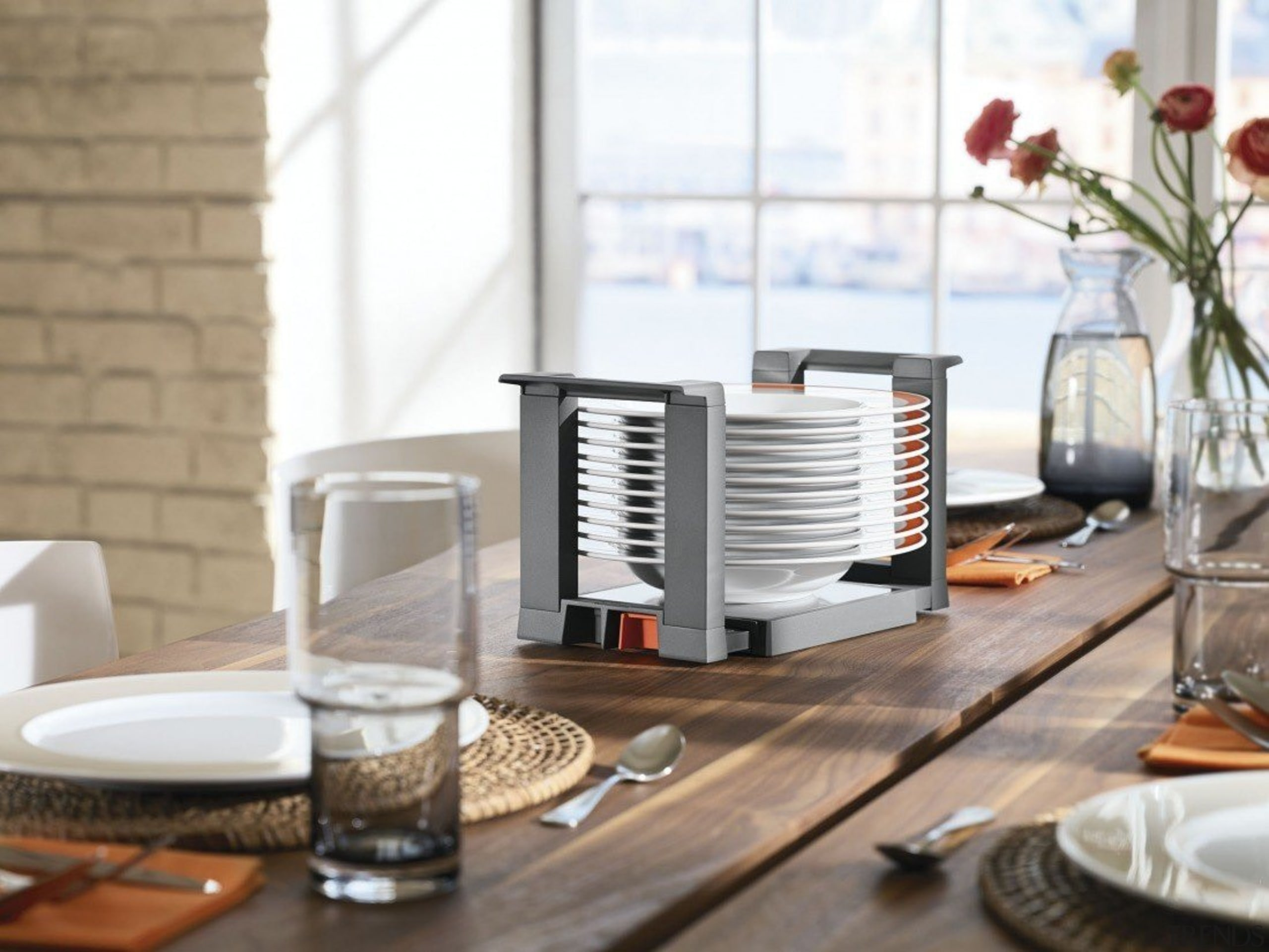 AMBIA-LINE kitchen accessories – organization at its best. furniture, interior design, product design, table, white, gray