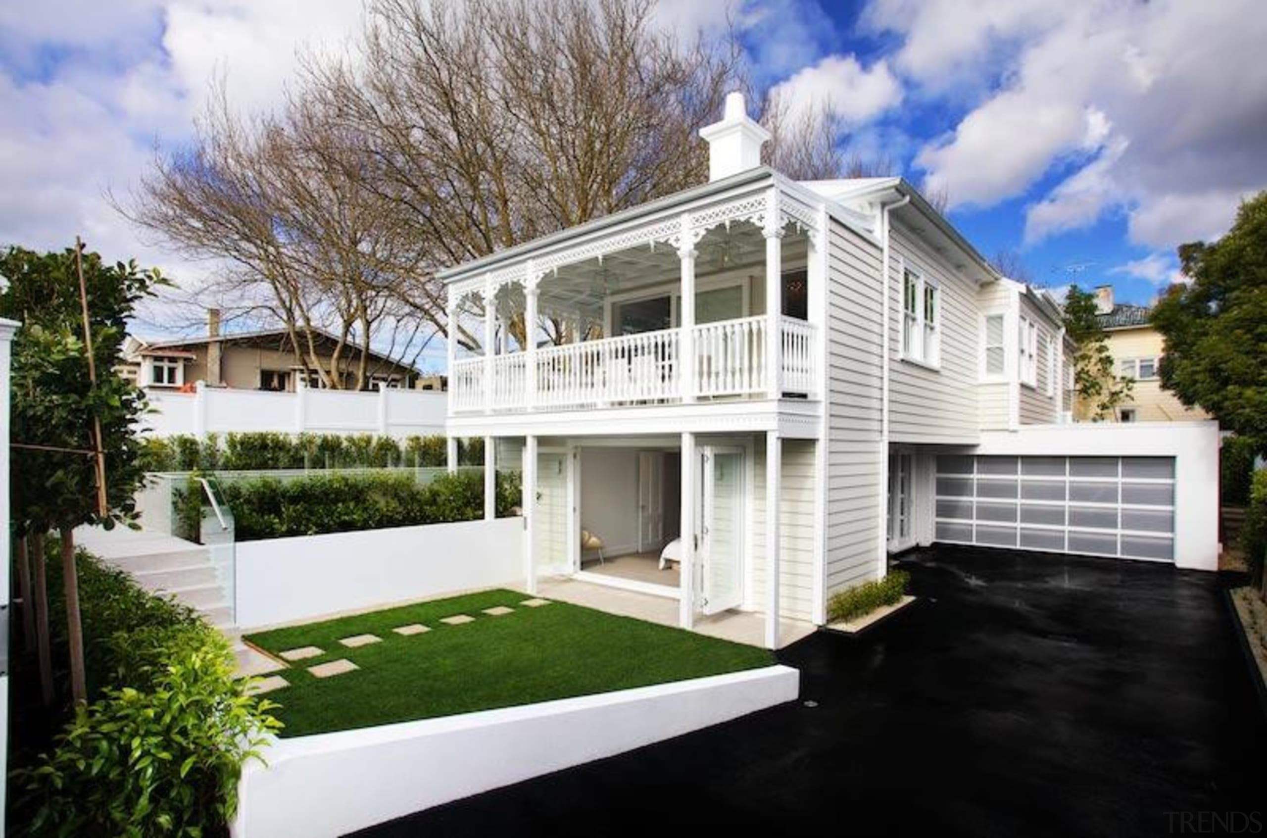 TIDA New Zealand Architect-designed Homes - 2015 Trends architecture, building, cottage, estate, facade, home, house, property, real estate, residential area, siding, window, white