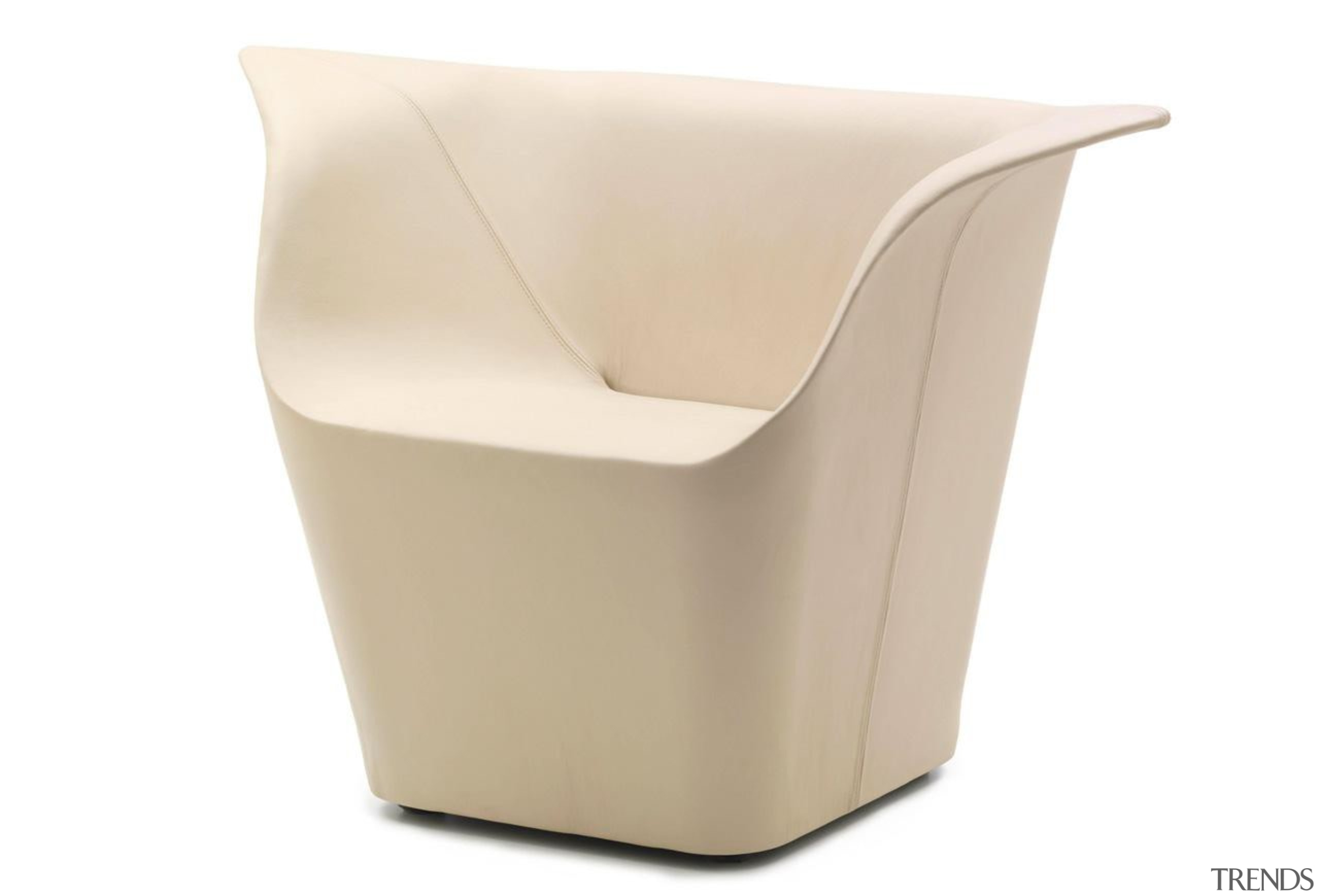 Garment armchair by Benjamin Hubert for Cappellini.Garment is angle, chair, furniture, product design, white