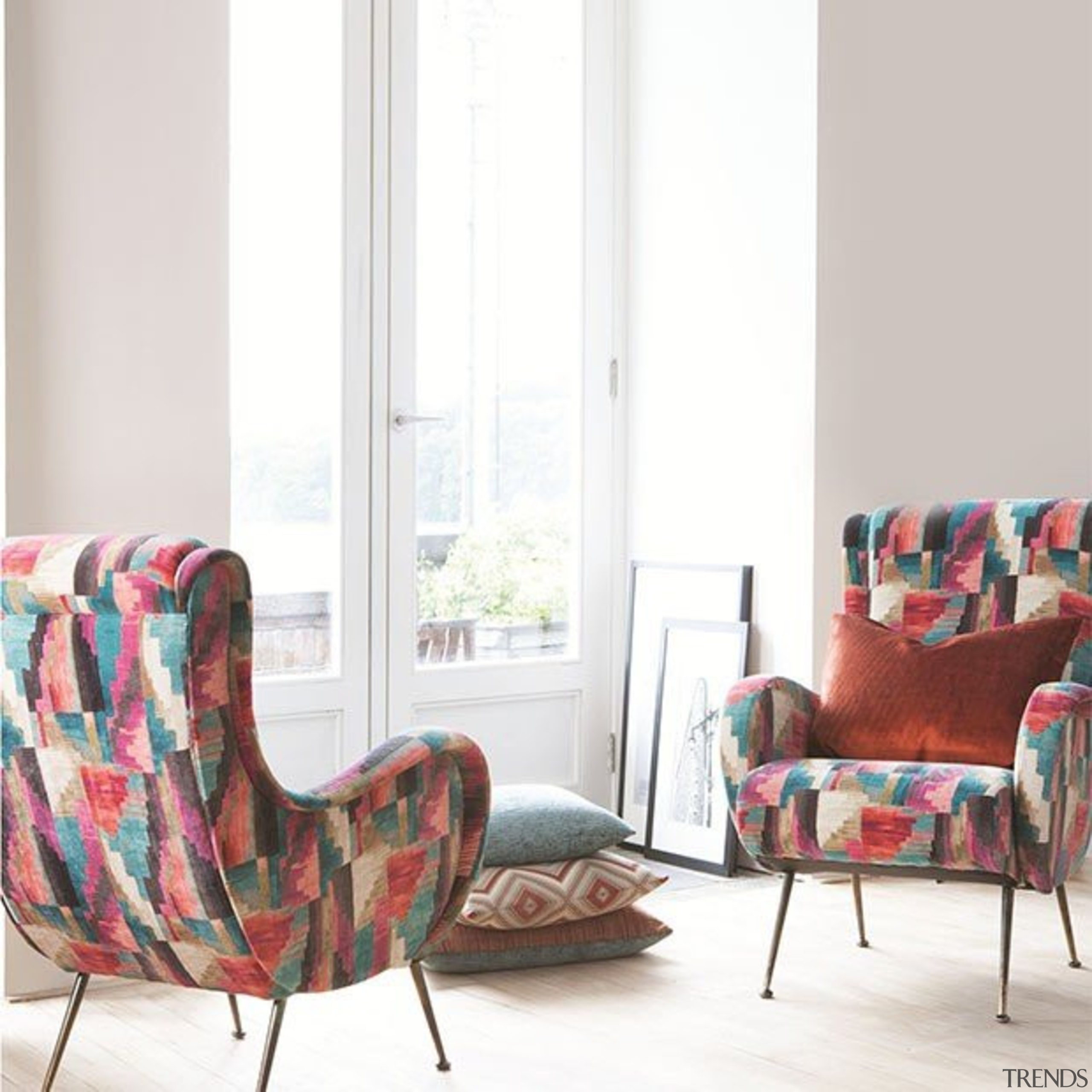 Kaleidoscope 1 - Kaleidoscope 1 - chair | chair, couch, cushion, furniture, home, interior design, living room, room, table, window, white