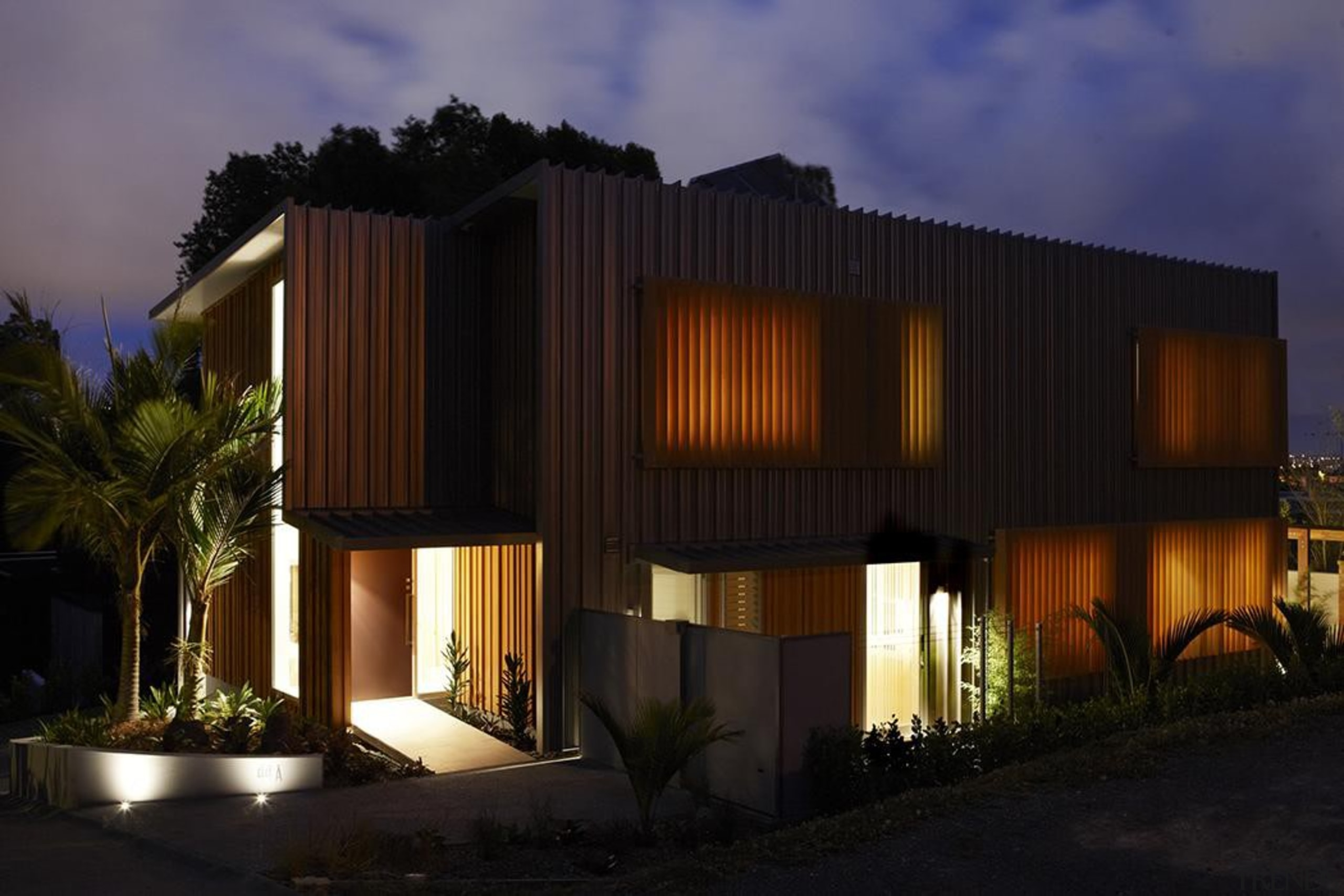 Parnell, Auckland - Nikau House - architecture | architecture, building, elevation, estate, facade, home, house, lighting, property, real estate, black