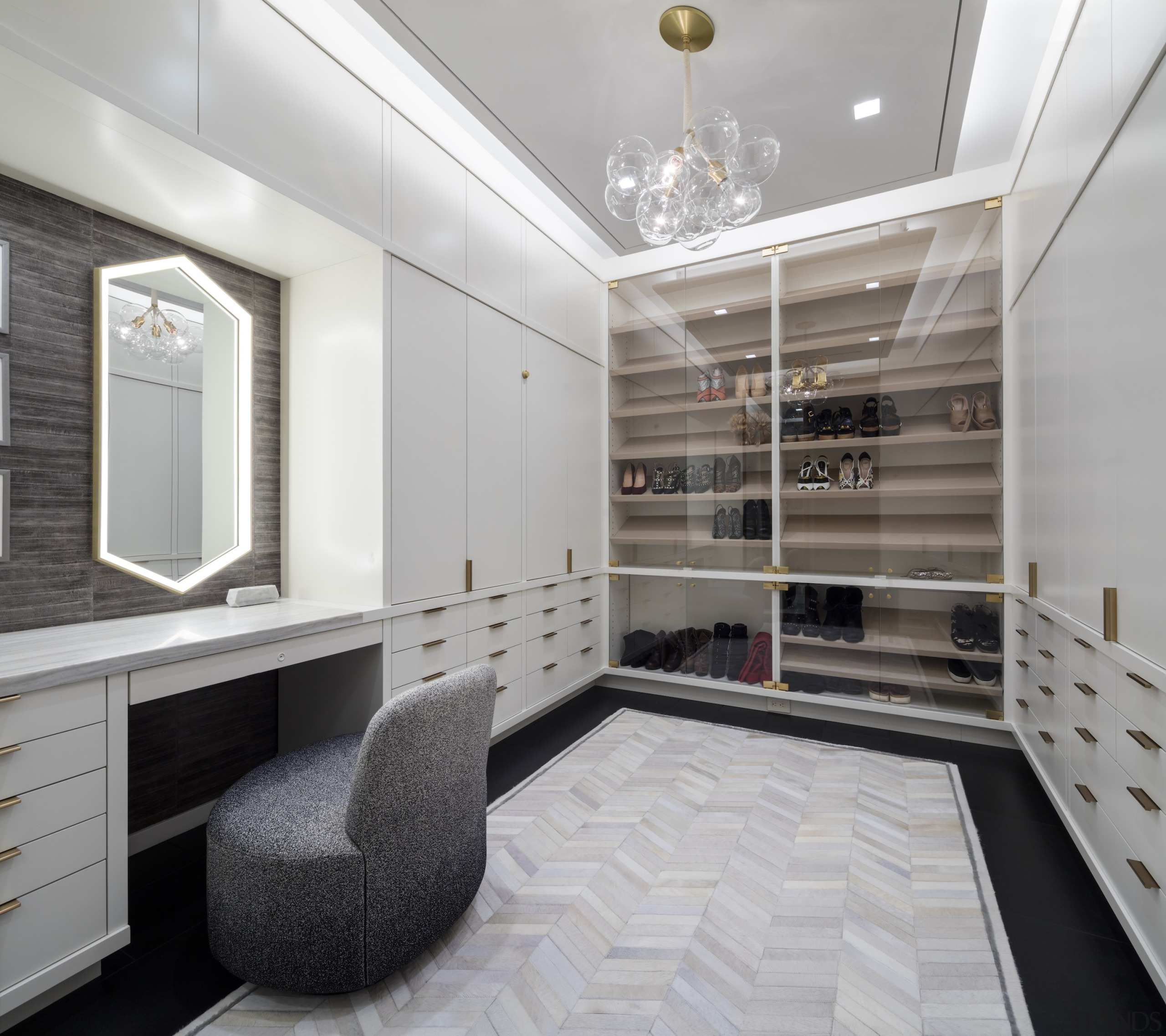 The master suite dressing room that has everything