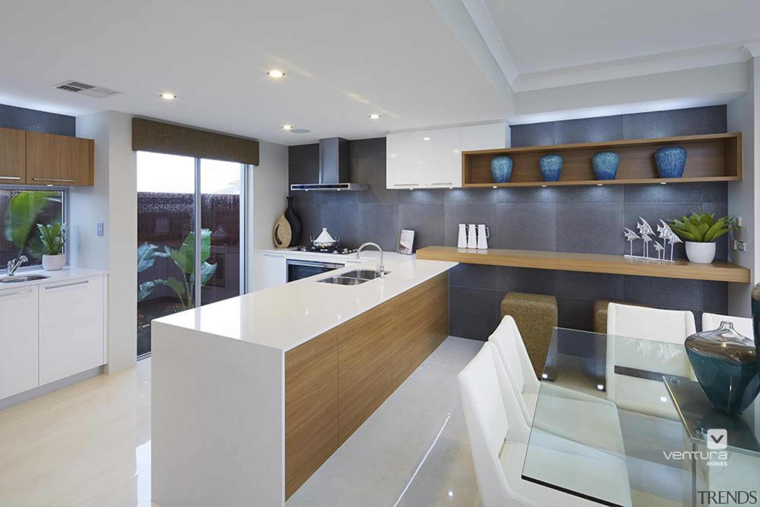 Kitchen design. - The Meridian Two Storey Display countertop, interior design, kitchen, real estate, gray
