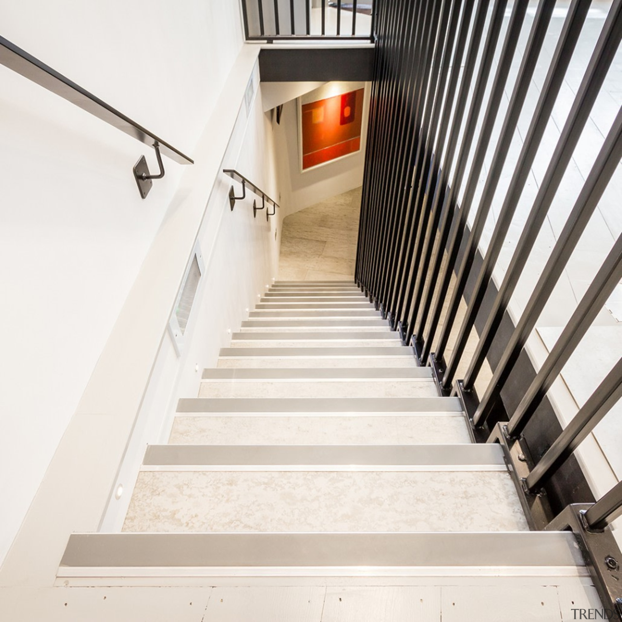 Concreate CF103 1 - Concreate_CF103_1 - architecture | architecture, daylighting, floor, flooring, handrail, home, house, stairs, white