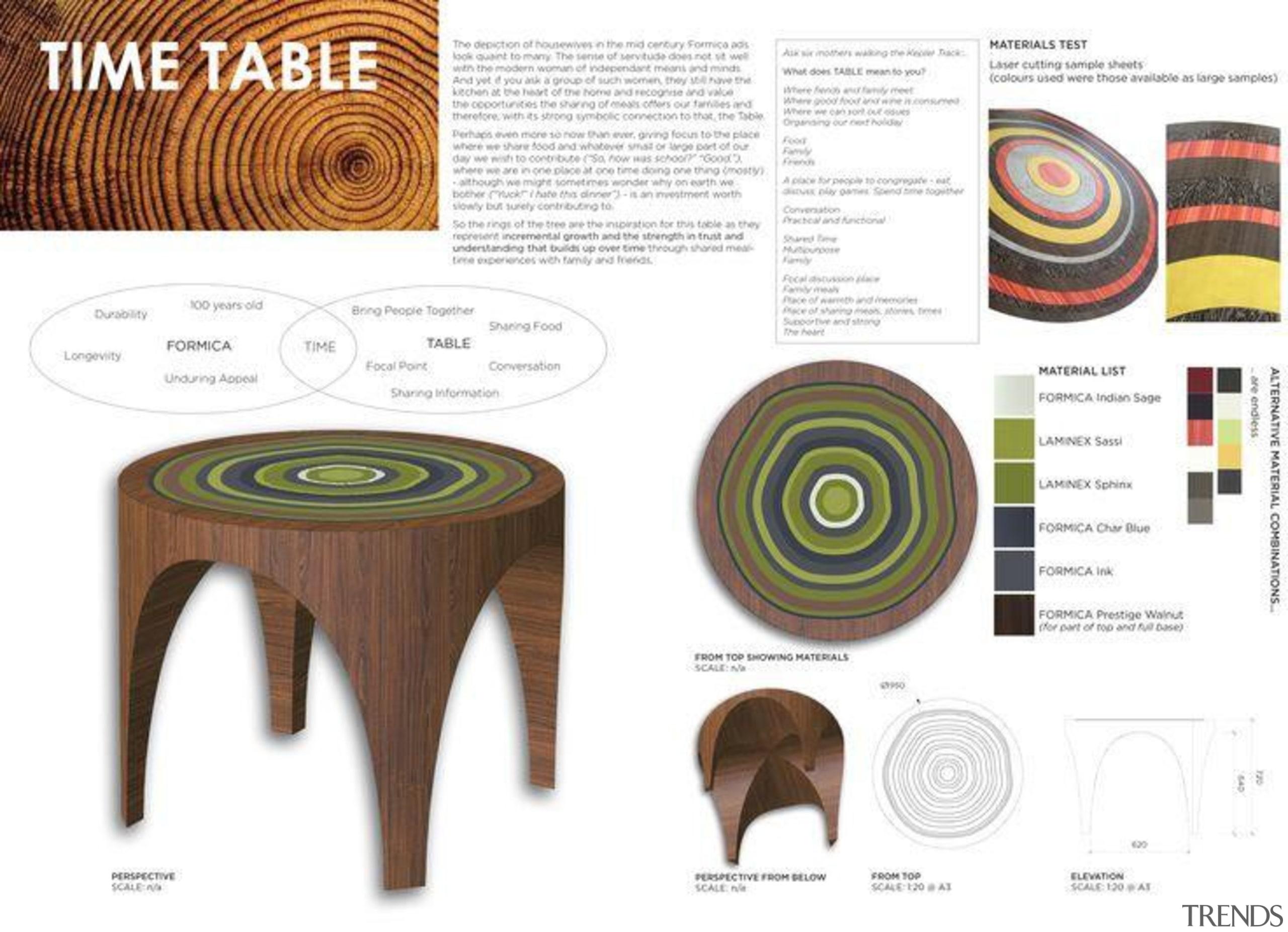 Frances Fraser - Winner, Emerging Category - Time design, font, furniture, line, product, product design, table, white